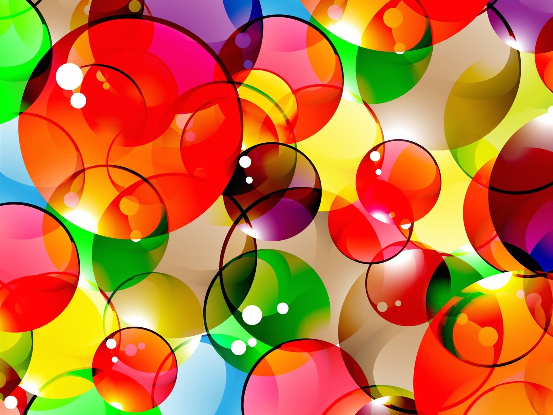 Fondo De Pantalla Abstracto Flores Y Circulos: Fondos De Pantalla Fondo Colorido Abstracto, Burbujas