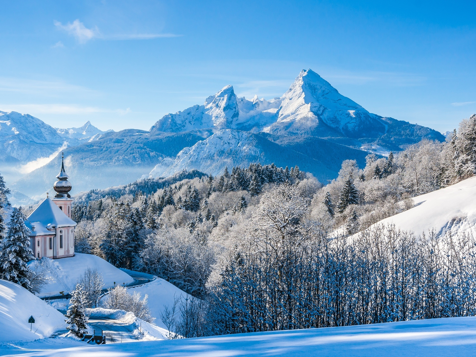 Fonds d 39 cran t l charger 1920x1440 hiver neige for Sfondi desktop inverno montagna