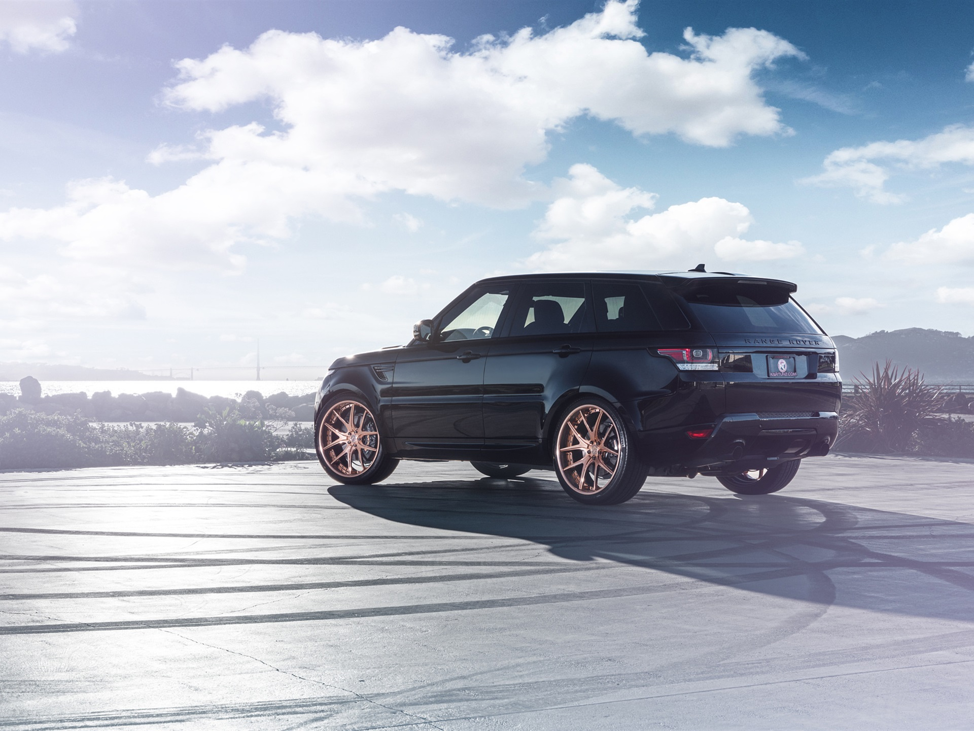 Wallpaper Land Rover Range Rover Black Suv Back View 1920x1440 Hd Picture Image