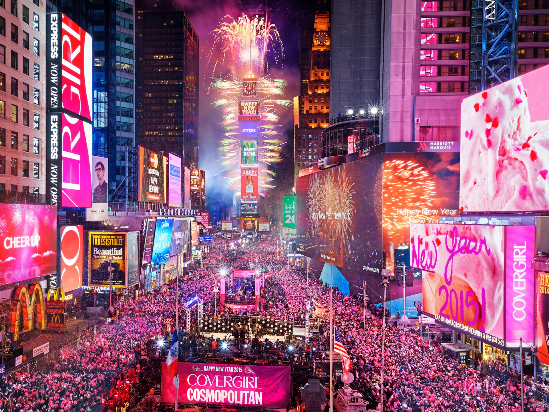 Fondos De Pantalla Times Square En Nueva York Eeuu Noche