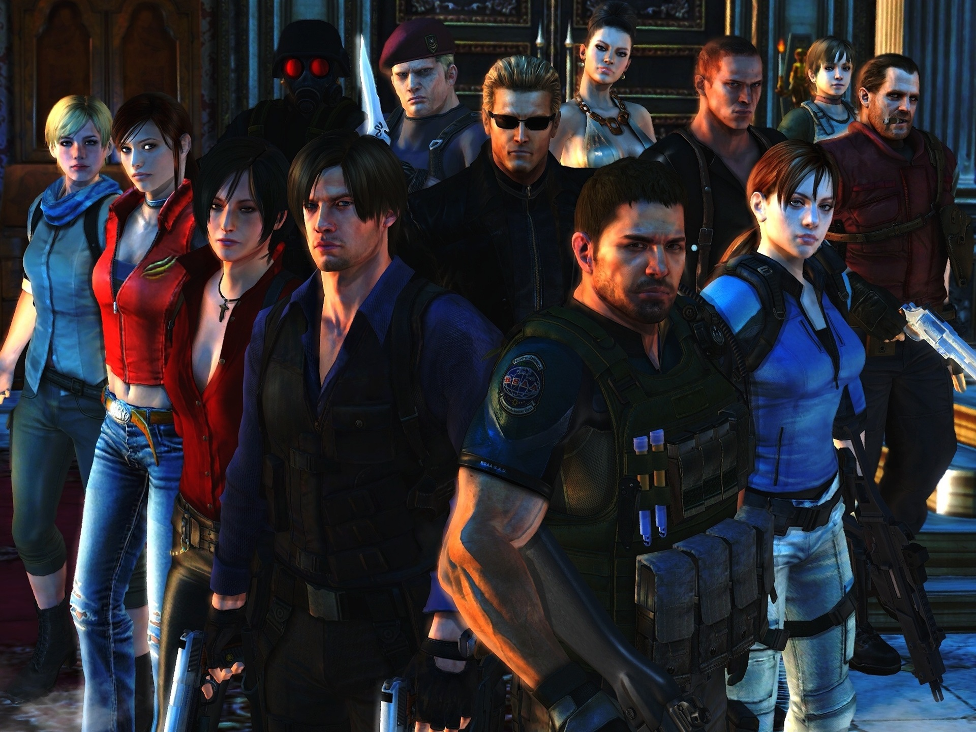 Wallpaper Resident Evil 6 Game Characters 1920x1440 Hd Picture Image
