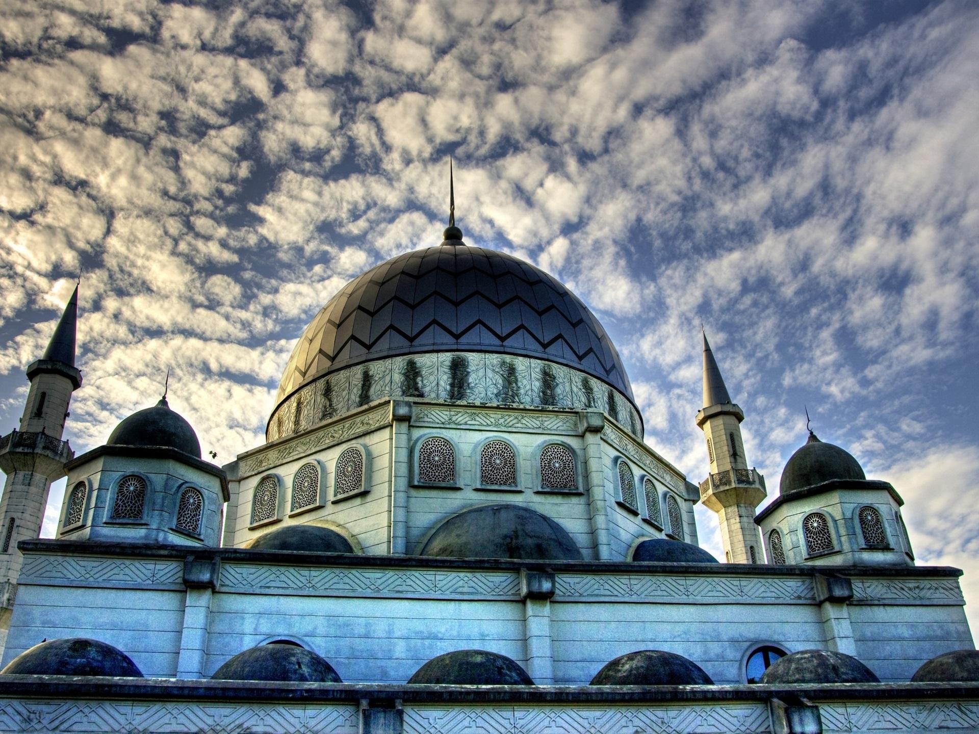 Fondos De Pantalla Islam Mezquita, Edificios, Nubes, Cielo