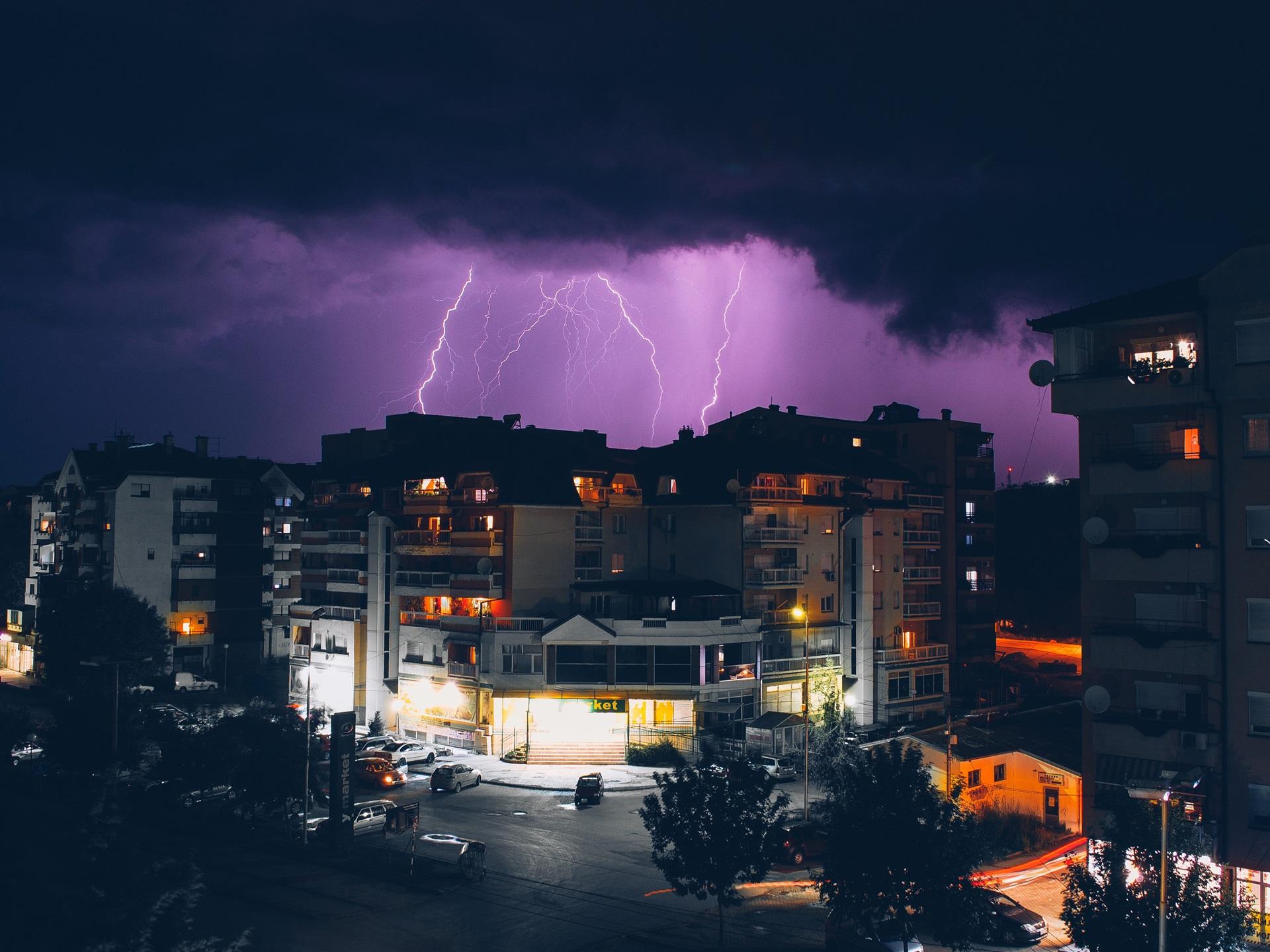 Обои гроза, молния, сша, ночь. Города foto 10