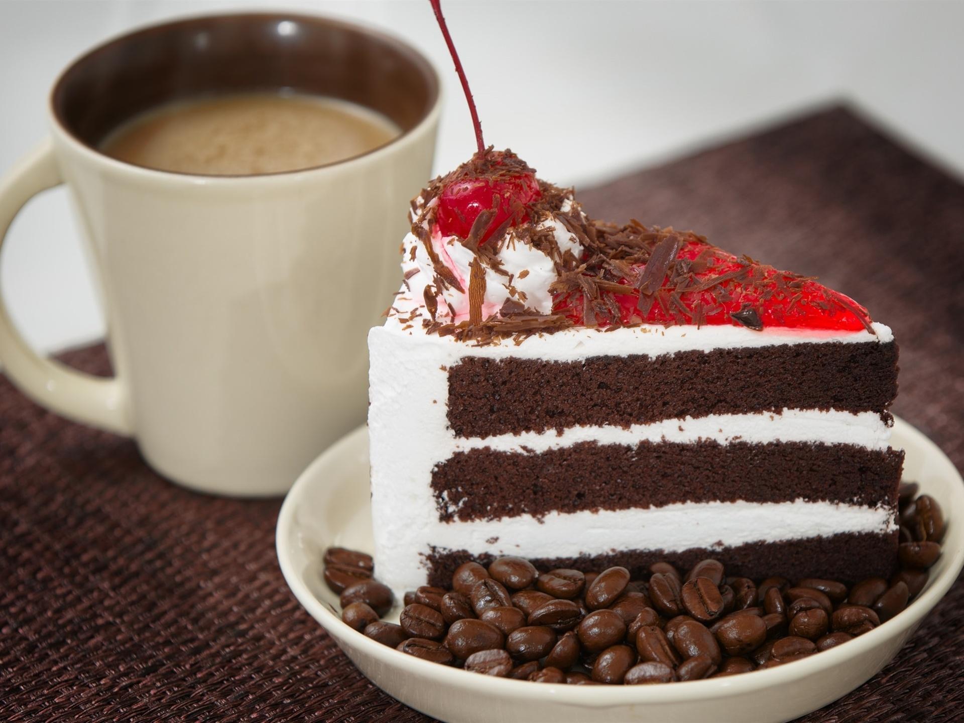 Открытки кофе и пирожное