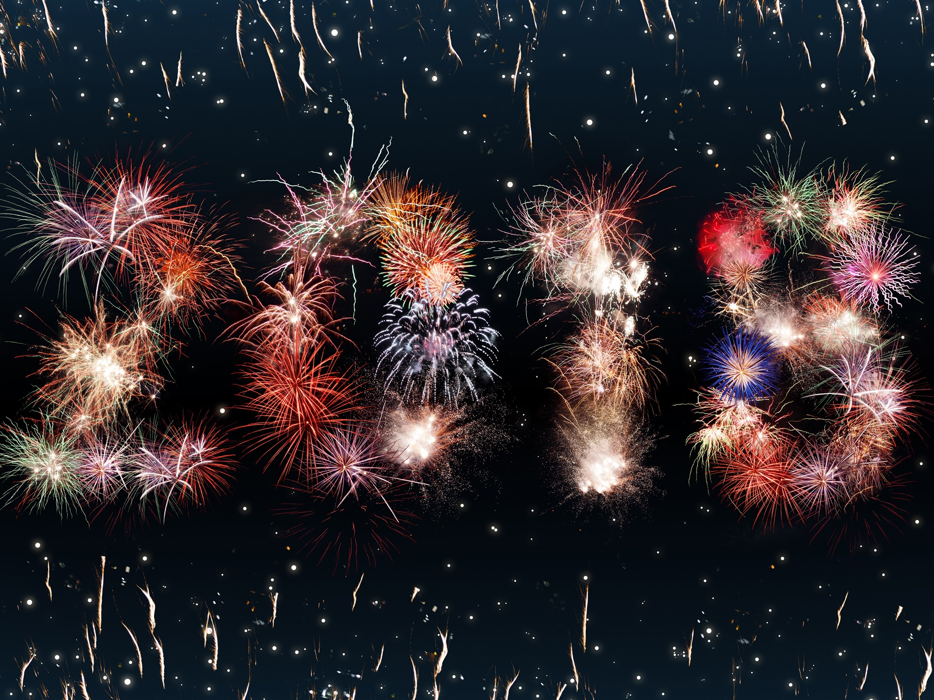 Wallpaper Happy New Year 2018, Beautiful Fireworks 3840x2160 UHD 4K  Picture, Image