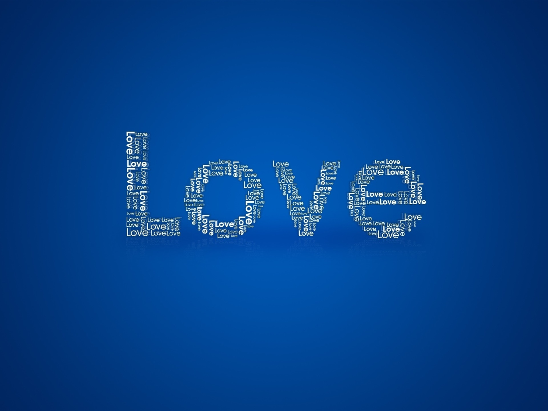 Wallpaper Love Blue Background 2560x1600 Hd Picture Image