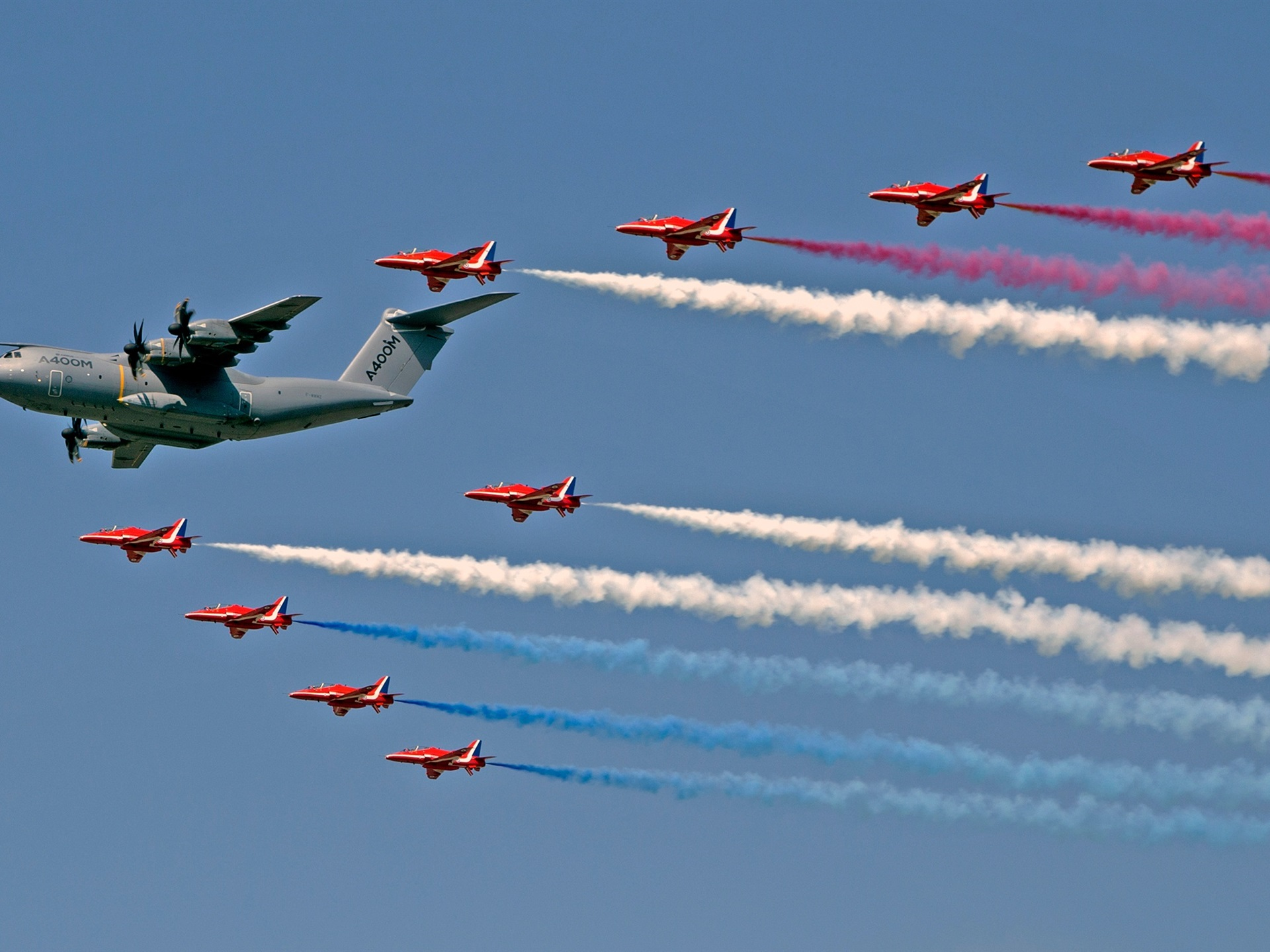 Wallpaper Royal Air Force, Red Arrows fighters, transport
