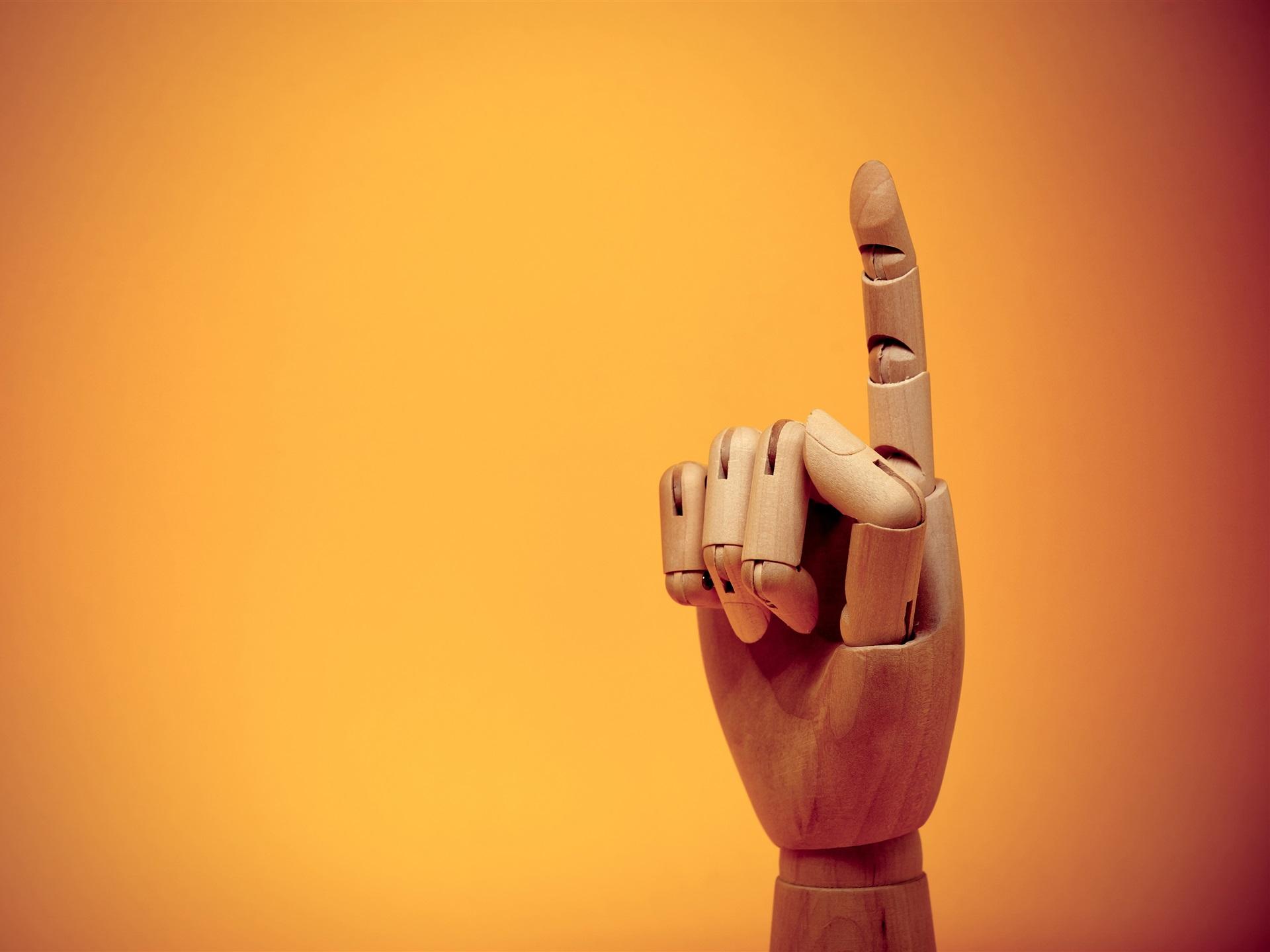 Fingergeste Hölzerne Kunstwerke 3840x2160 Uhd 4k