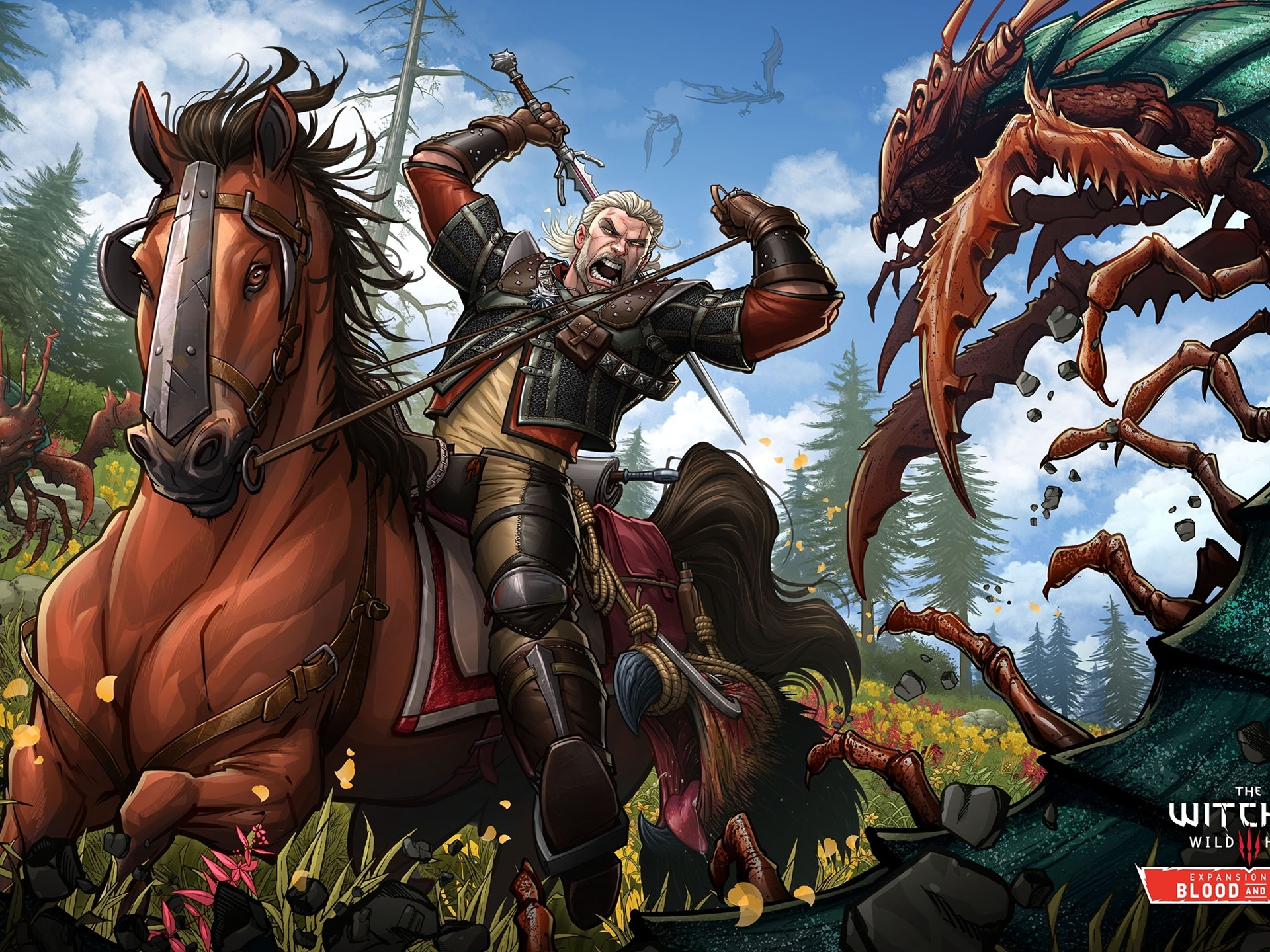 Wallpaper The Witcher 3 Wild Hunt Blood And Wine Game Art