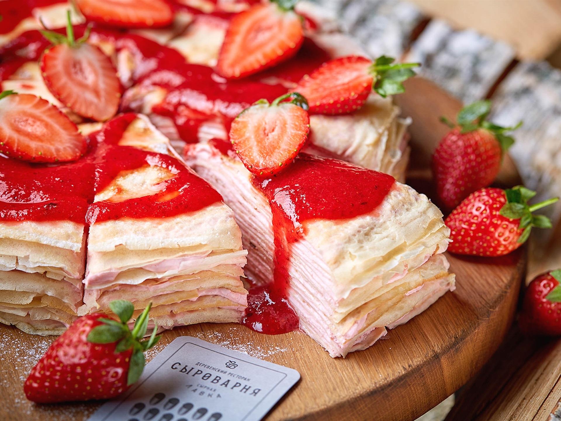 壁紙 パンケーキ イチゴ ピース 食品 1920x1440 Hd 無料の