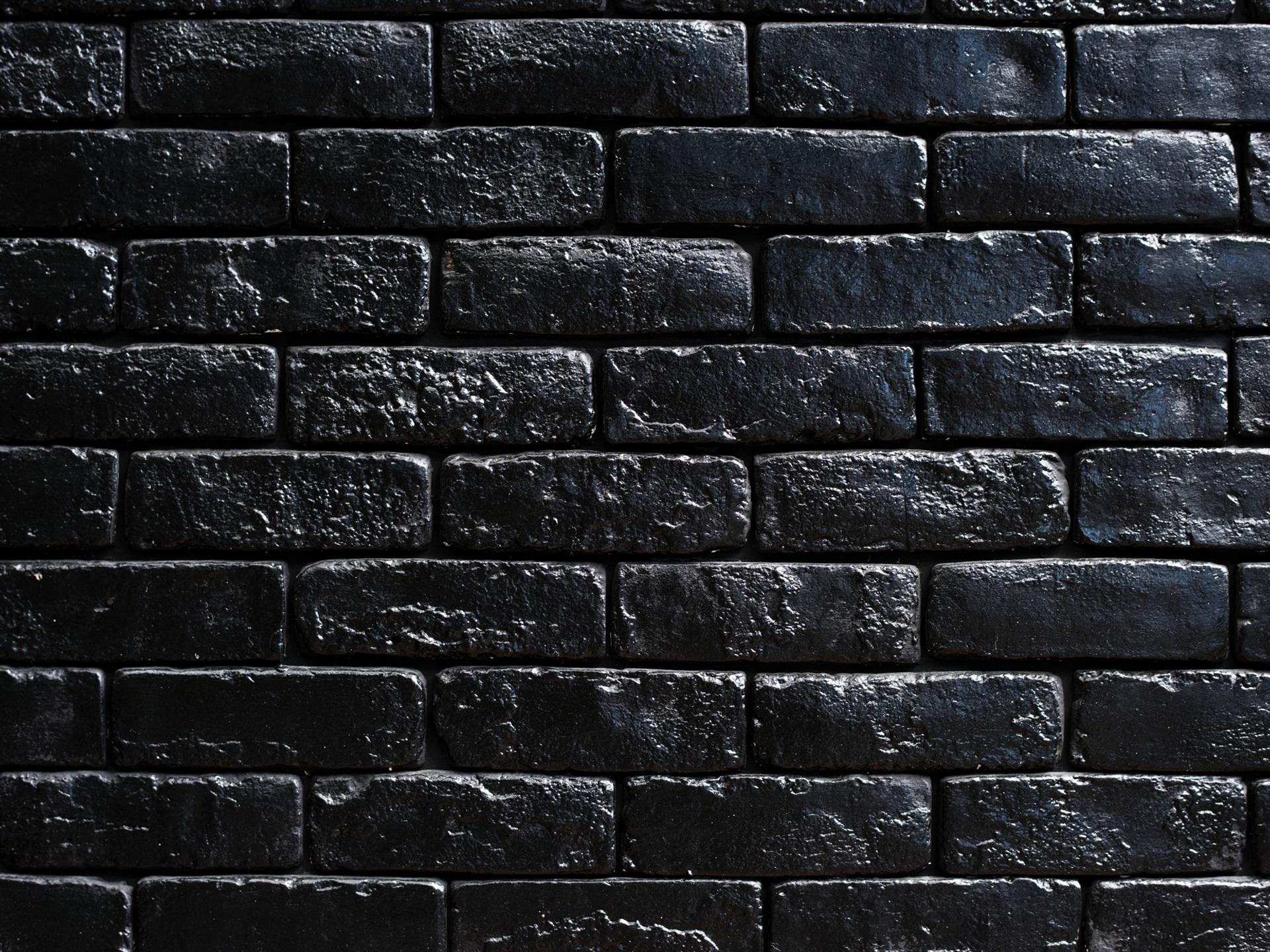 Fondos De Pantalla Negros: Fondos De Pantalla Pared De Ladrillos Negros 1920x1440 HD