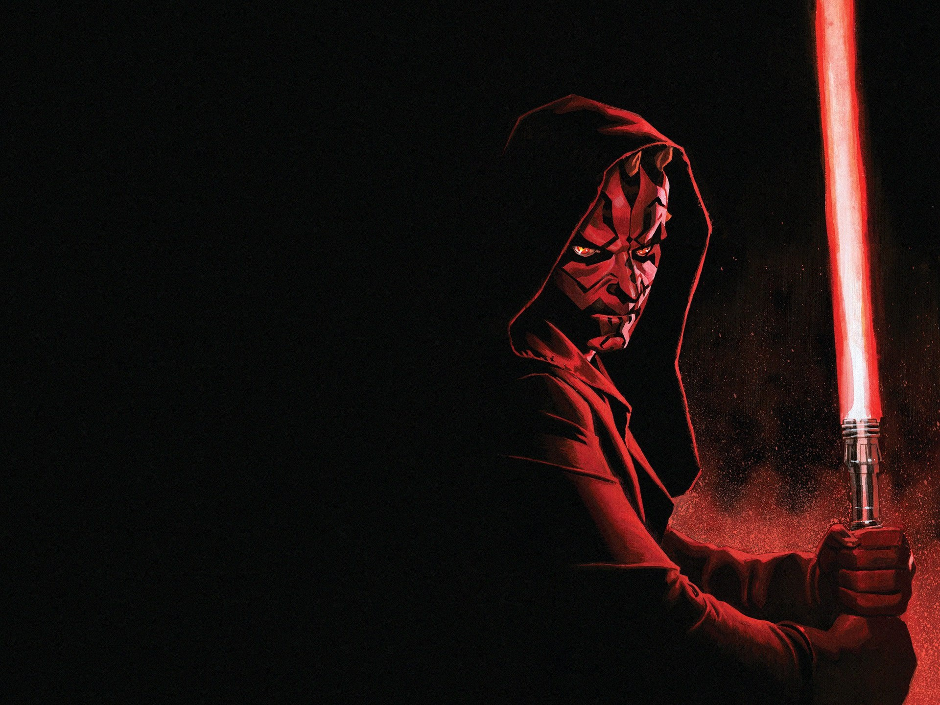 Star Wars, Darth Maul, Lightsaber, Art Picture 750x1334