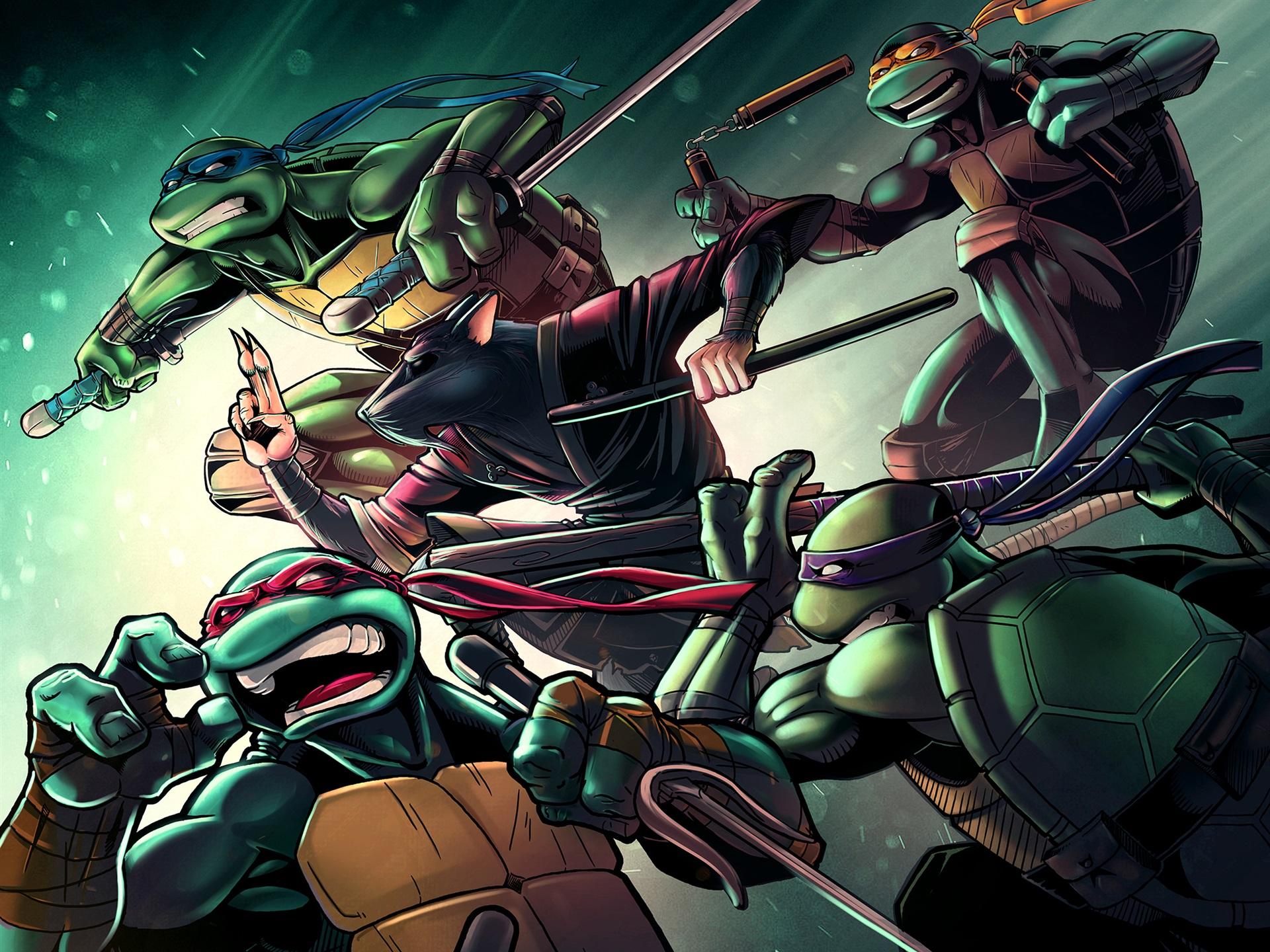 Wallpaper Teenage Mutant Ninja Turtles Classic Anime 1920x1440 Hd