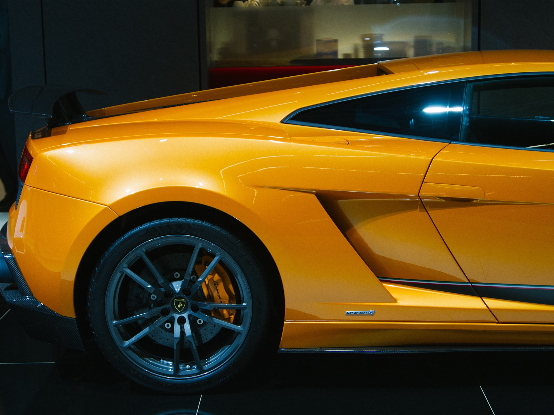 Обои wheels, Lamborghini, supercar, yellow, lp610-4. Автомобили foto 11