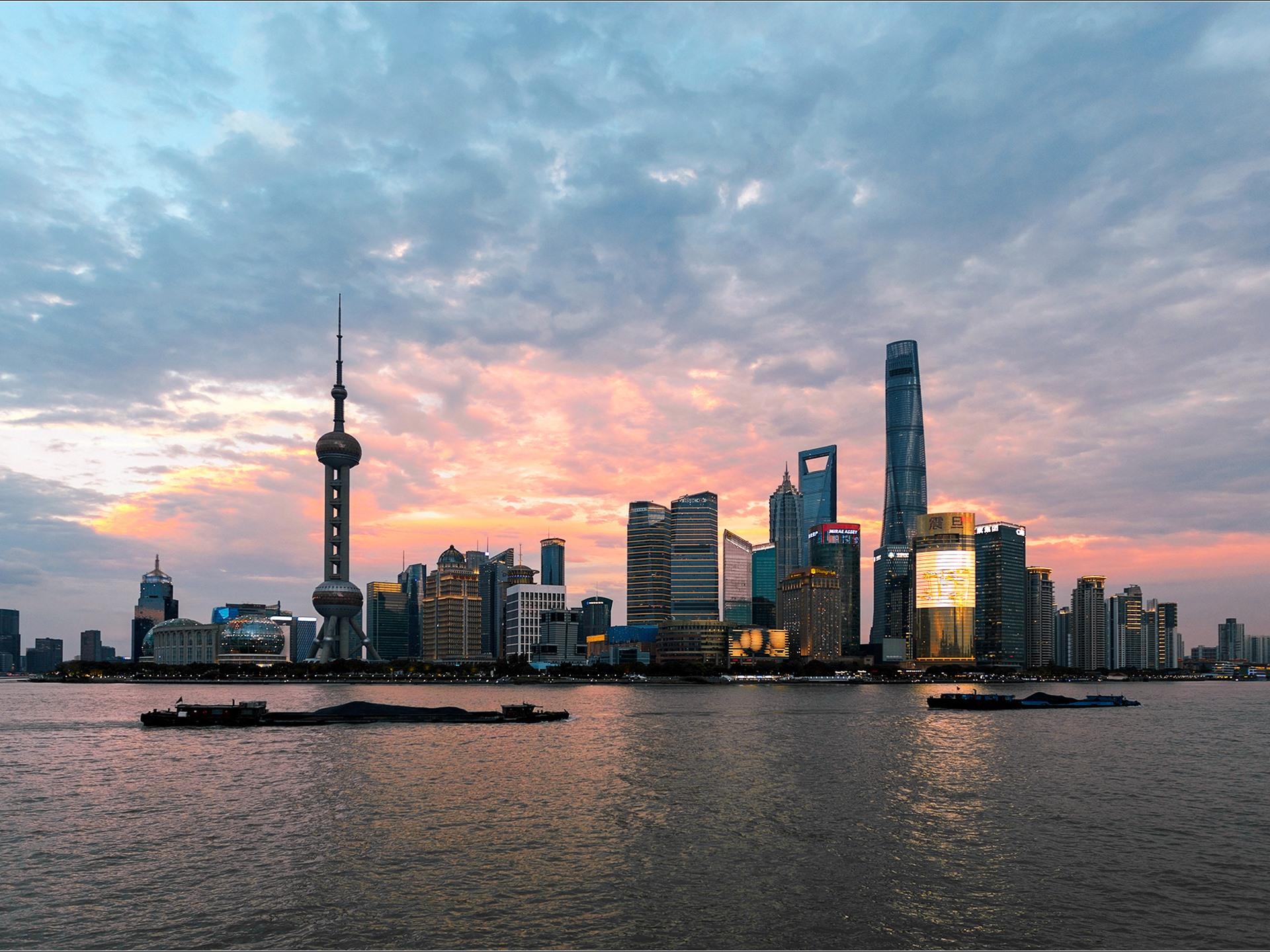 Обои небоскребы, китай, дома, улицы, шанхай, дороги. Города foto 11