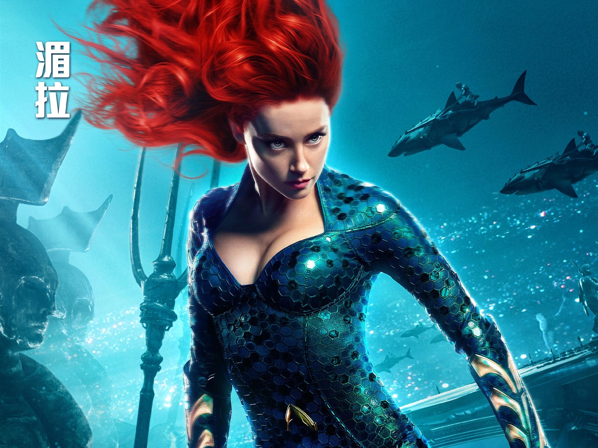 Movie Poster 2019: Amber Heard, Mera, Aquaman 2018 1242x2688 IPhone XS Max