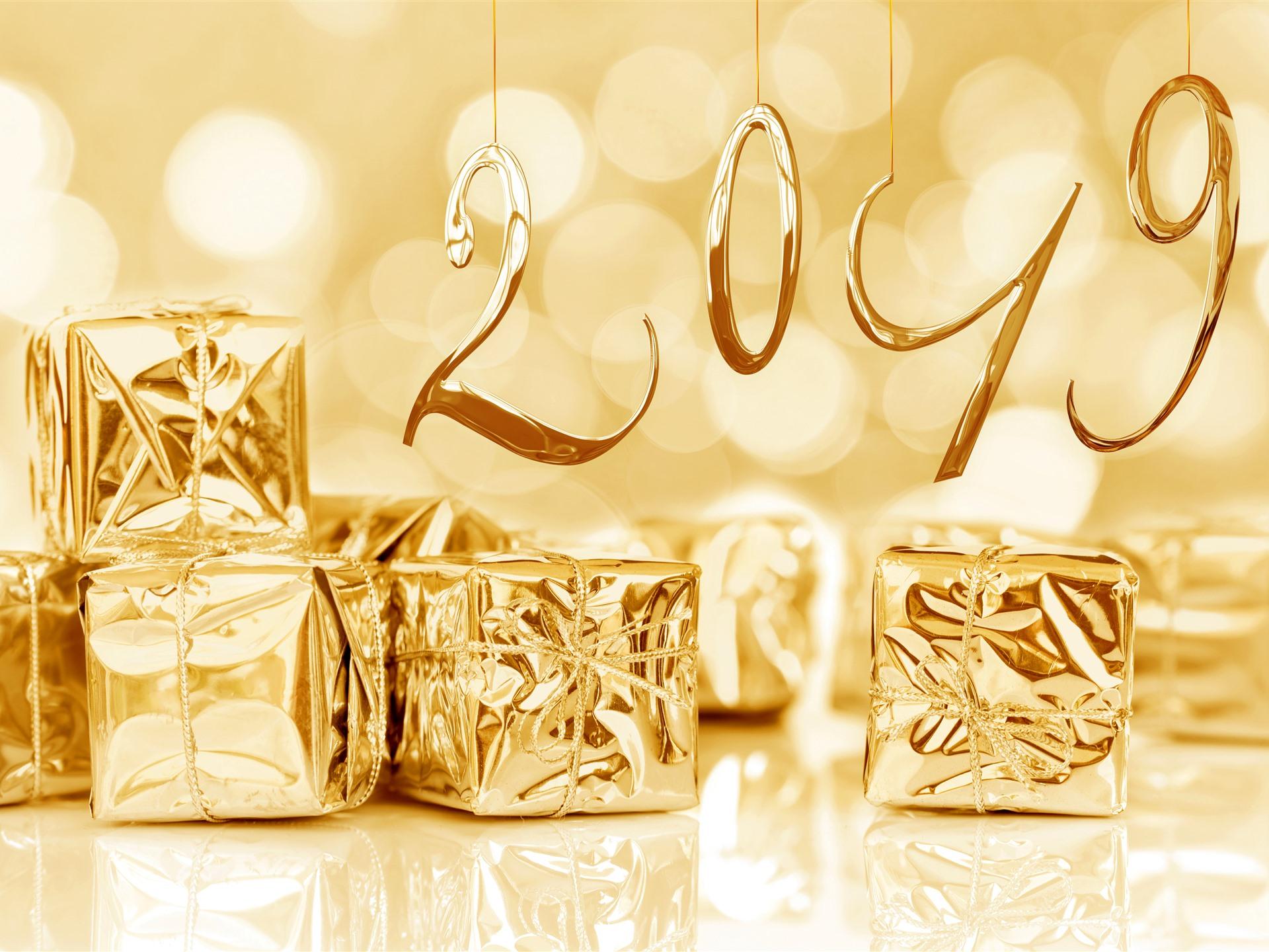 картинки с новым годом золотые