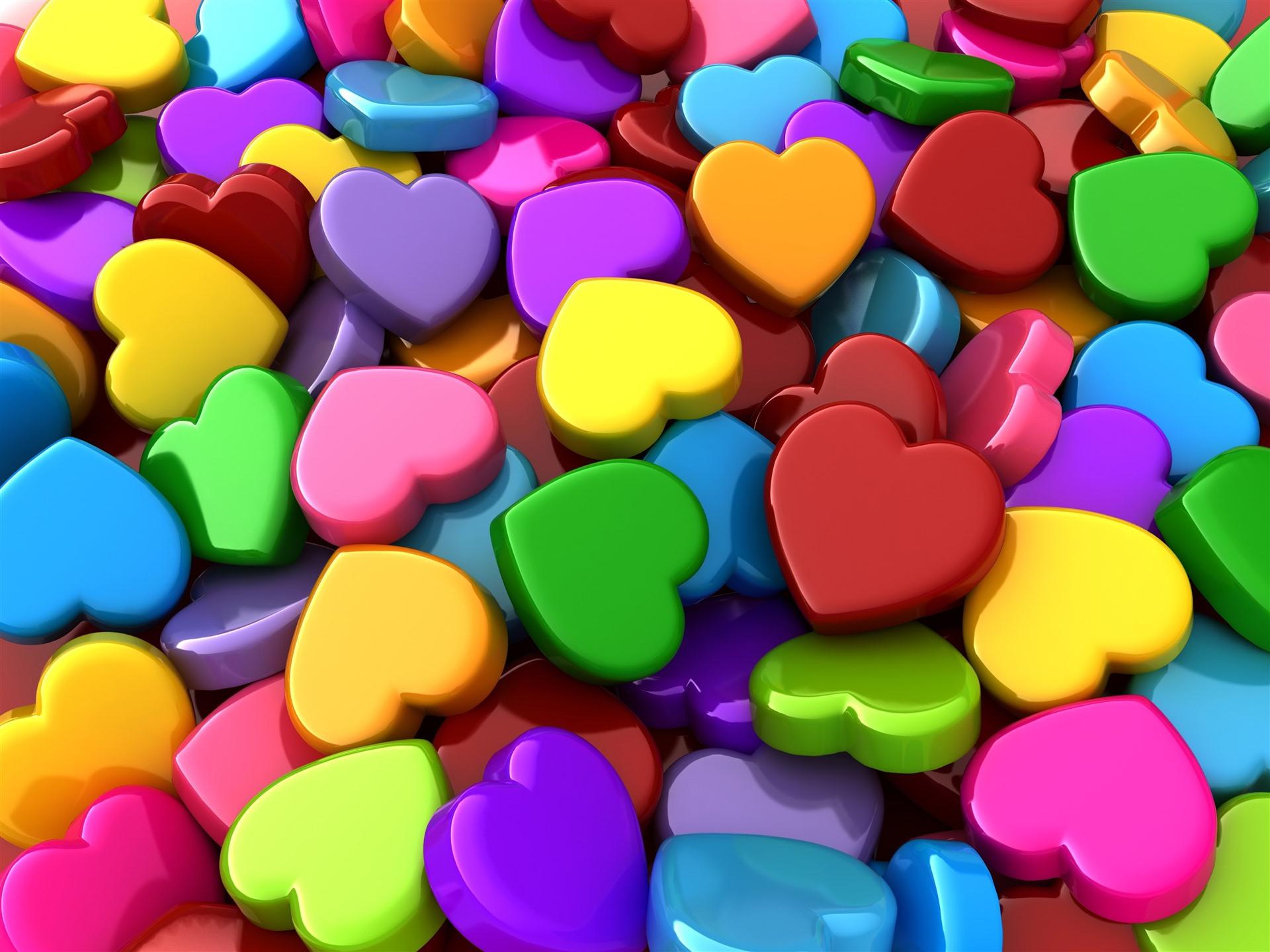 картинки сердечек ярких