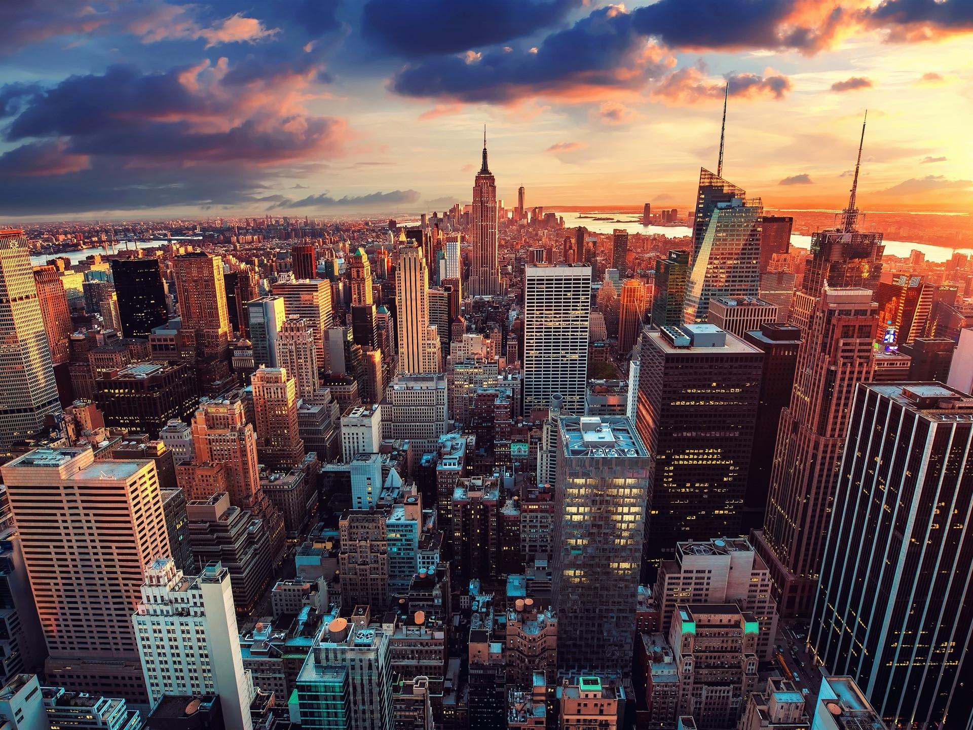 Обои state new york, небоскребы, утро, америка. Города foto 10