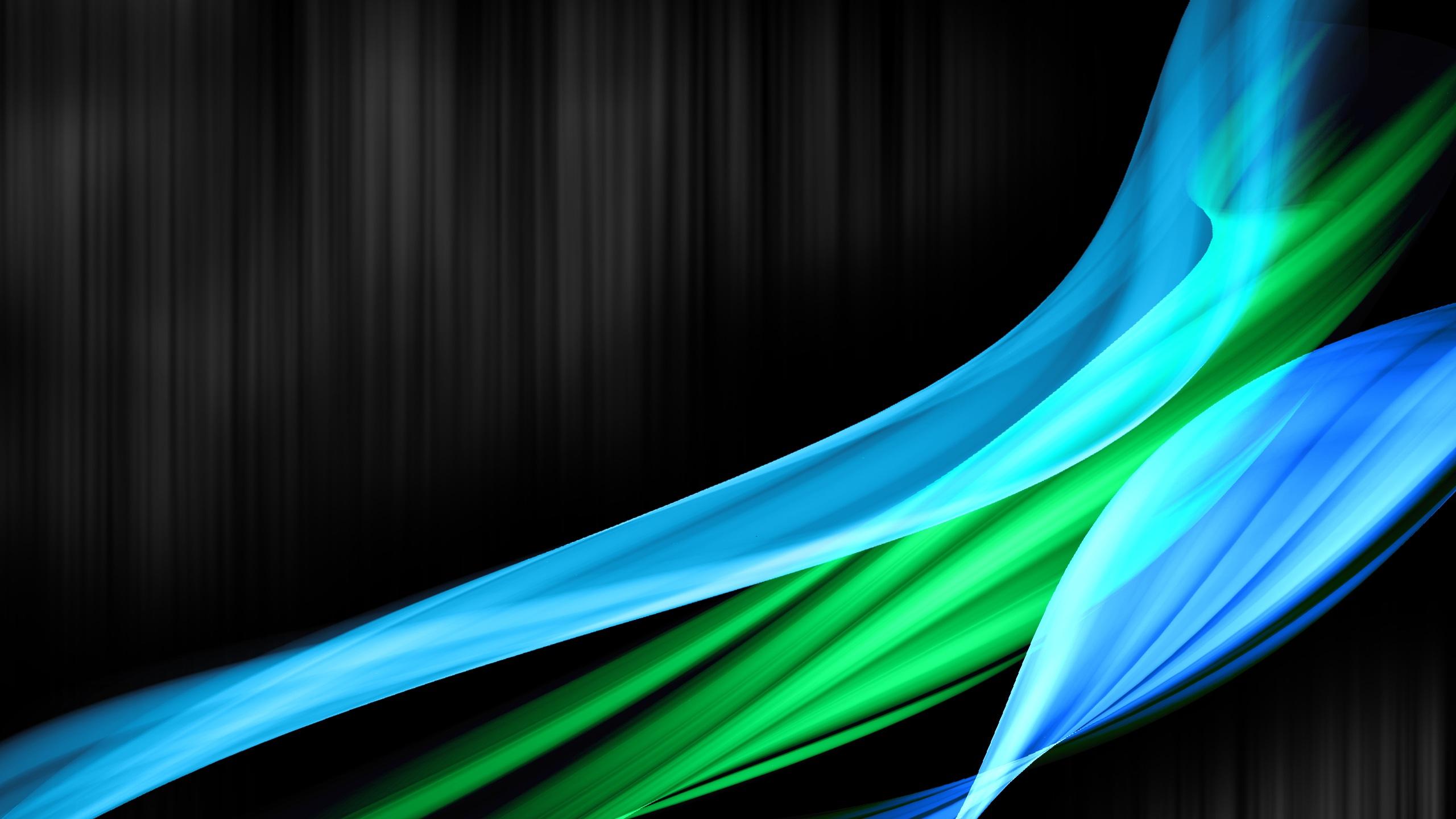 Fonds d 39 cran t l charger 2560x1440 bleu vert courbe for Fond ecran qhd