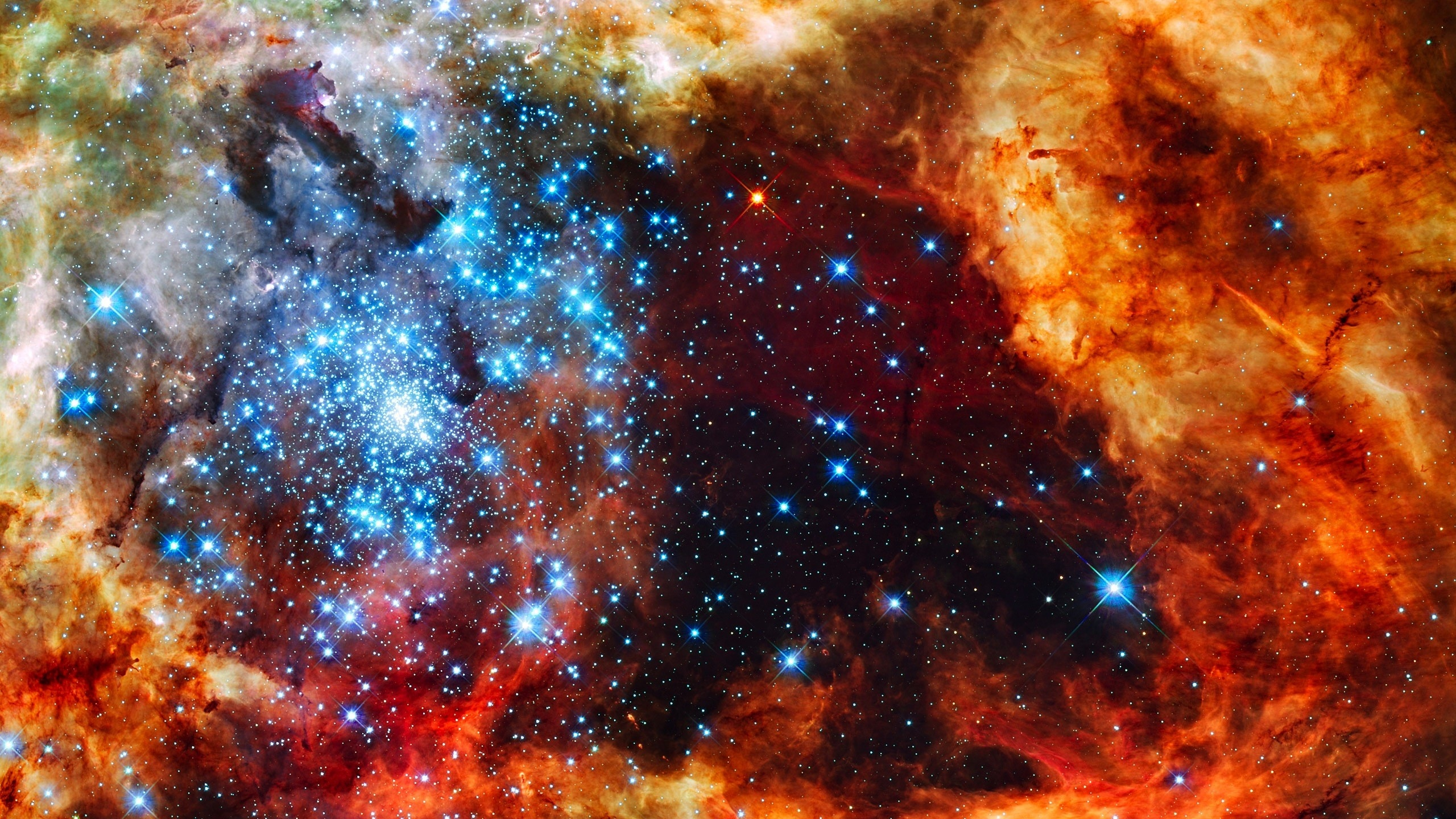 Wallpaper starry space 2560x1440 qhd picture image for Sfondi 2560x1440