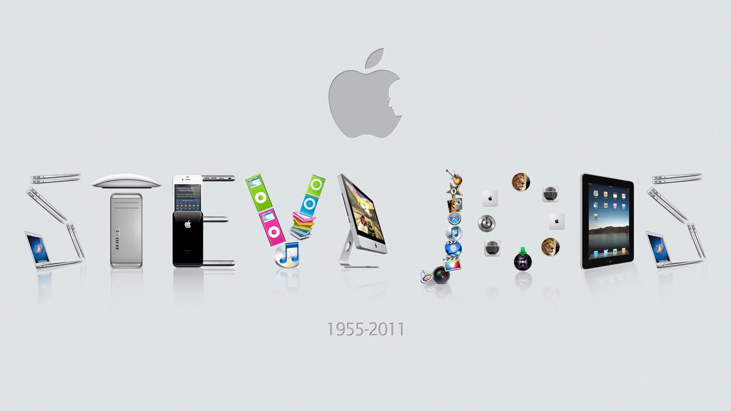 Steve Jobs Apple wallpaper - 2560x1440