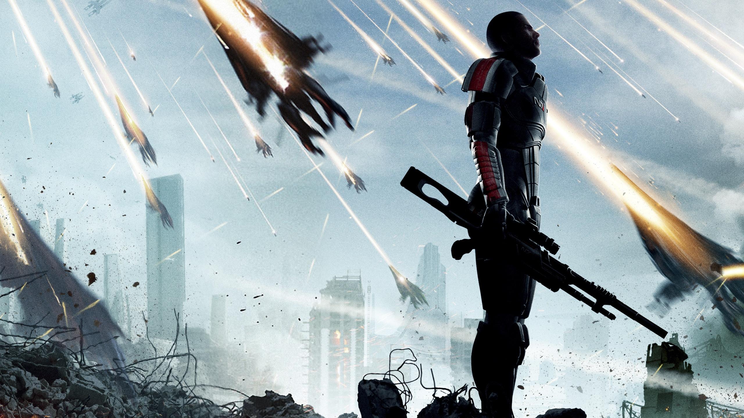 Download Wallpaper 2560x1440 Mass Effect 3 Game 2012 QHD