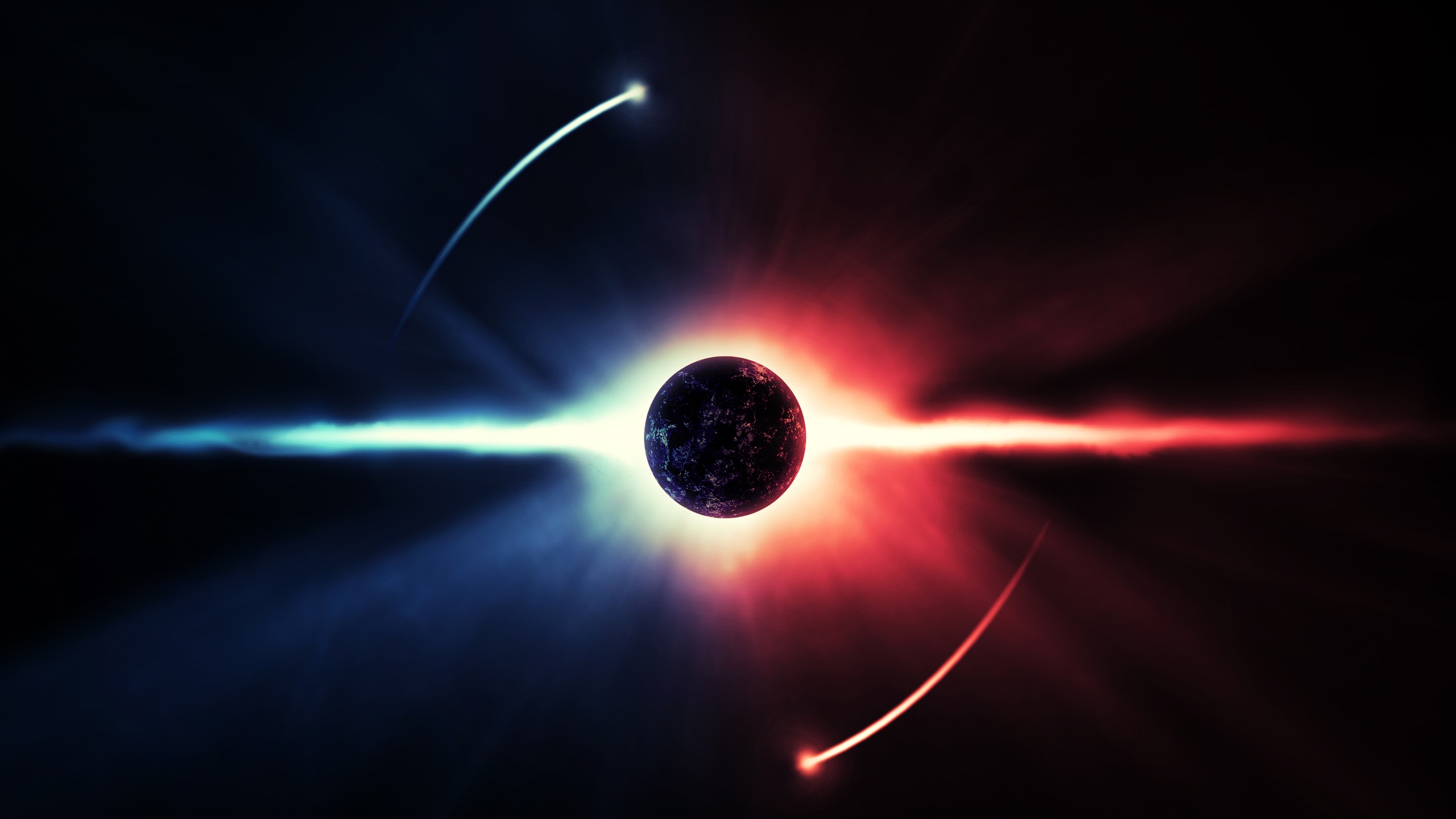 The planet energy light space Wallpaper | 2560x1440 QHD resolution ...