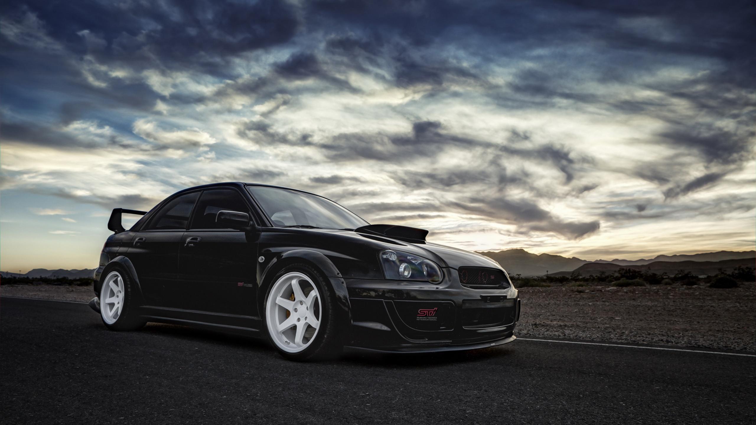 壁紙 スバルインプレッサwrx Stiの黒い車 2560x1440 Qhd 無料の