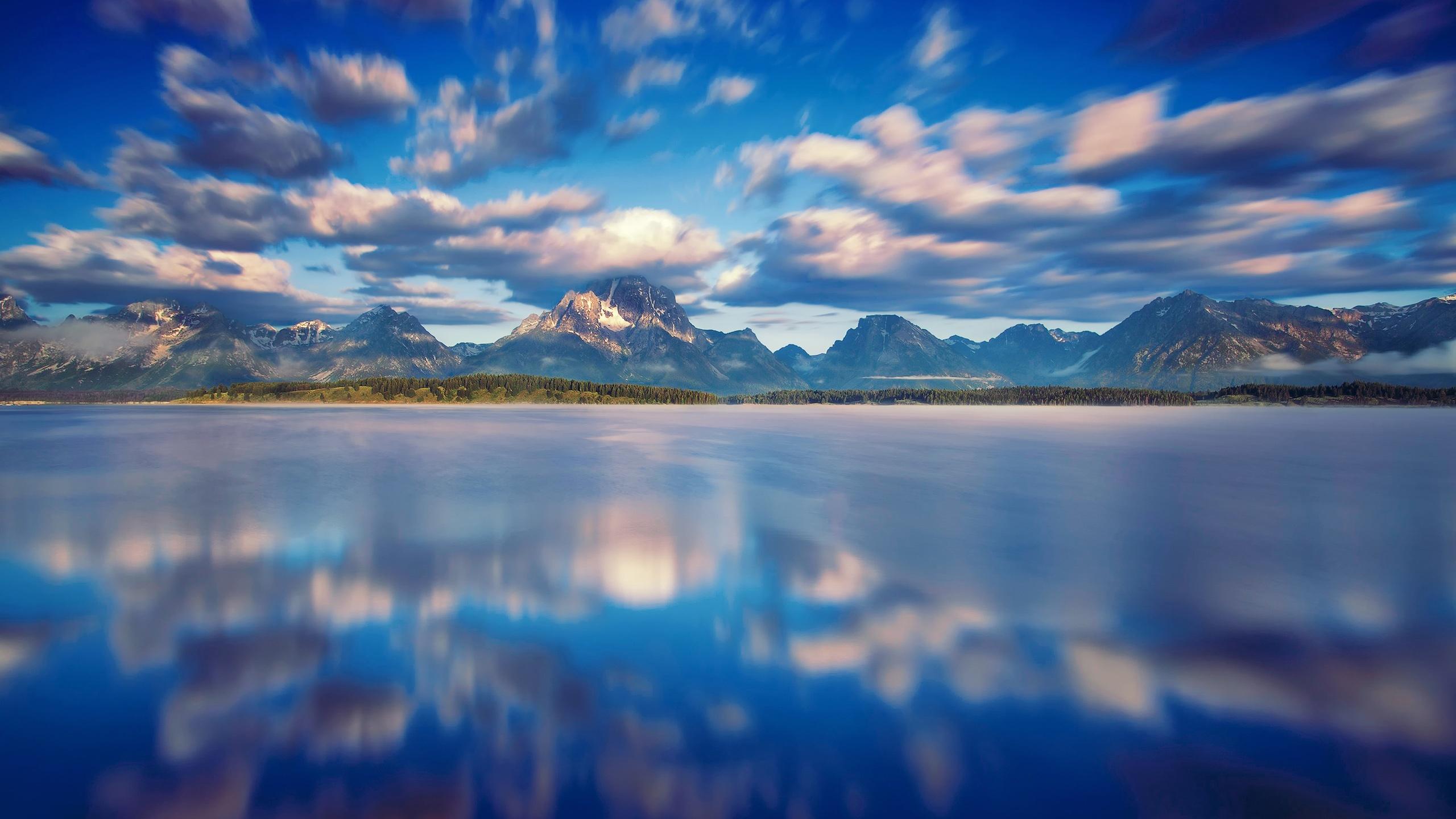 wallpaper 2560x1440 water mountains - photo #18