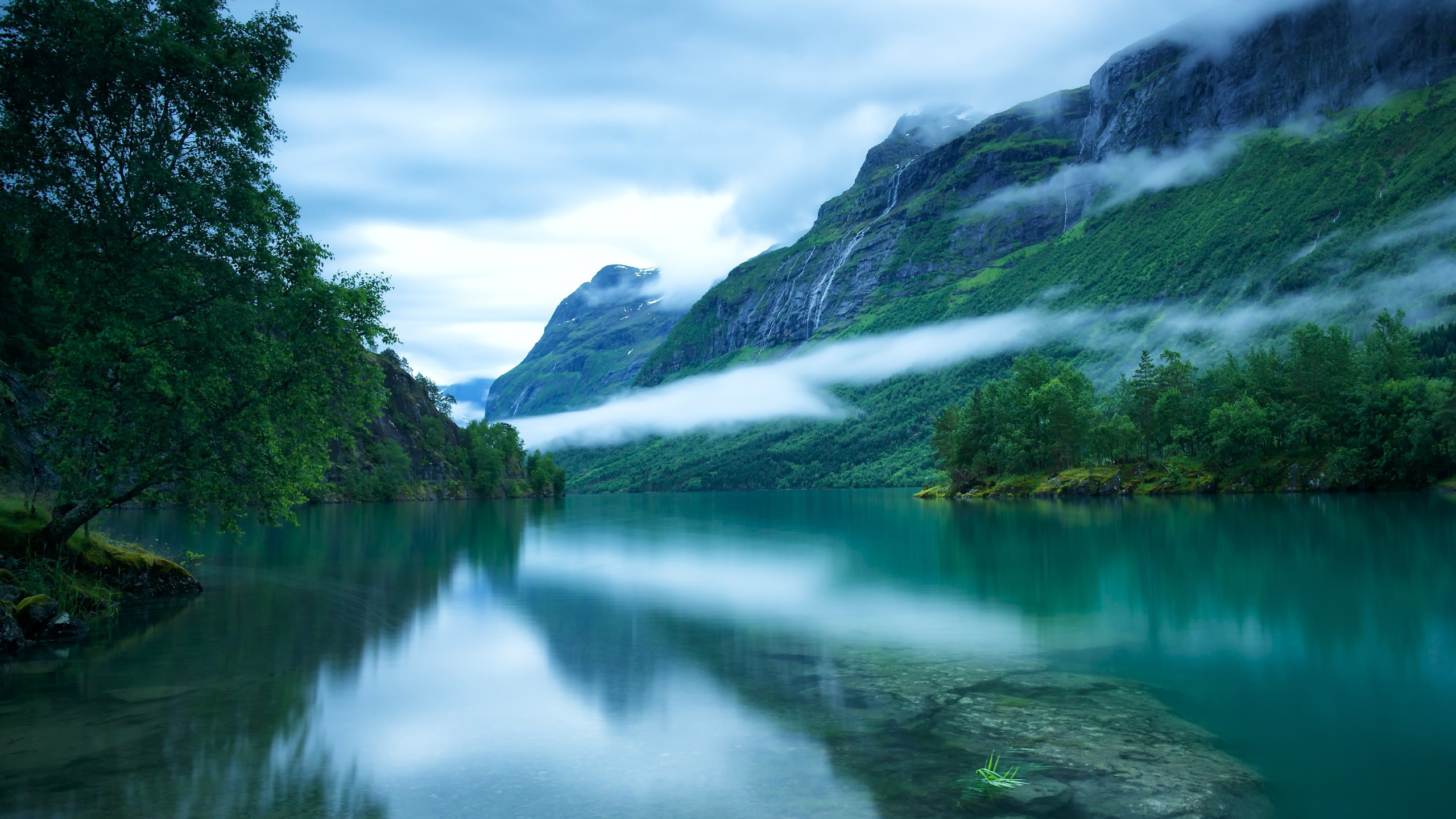 Wallpaper Western Norway Loen Lake Surface Scandinavian