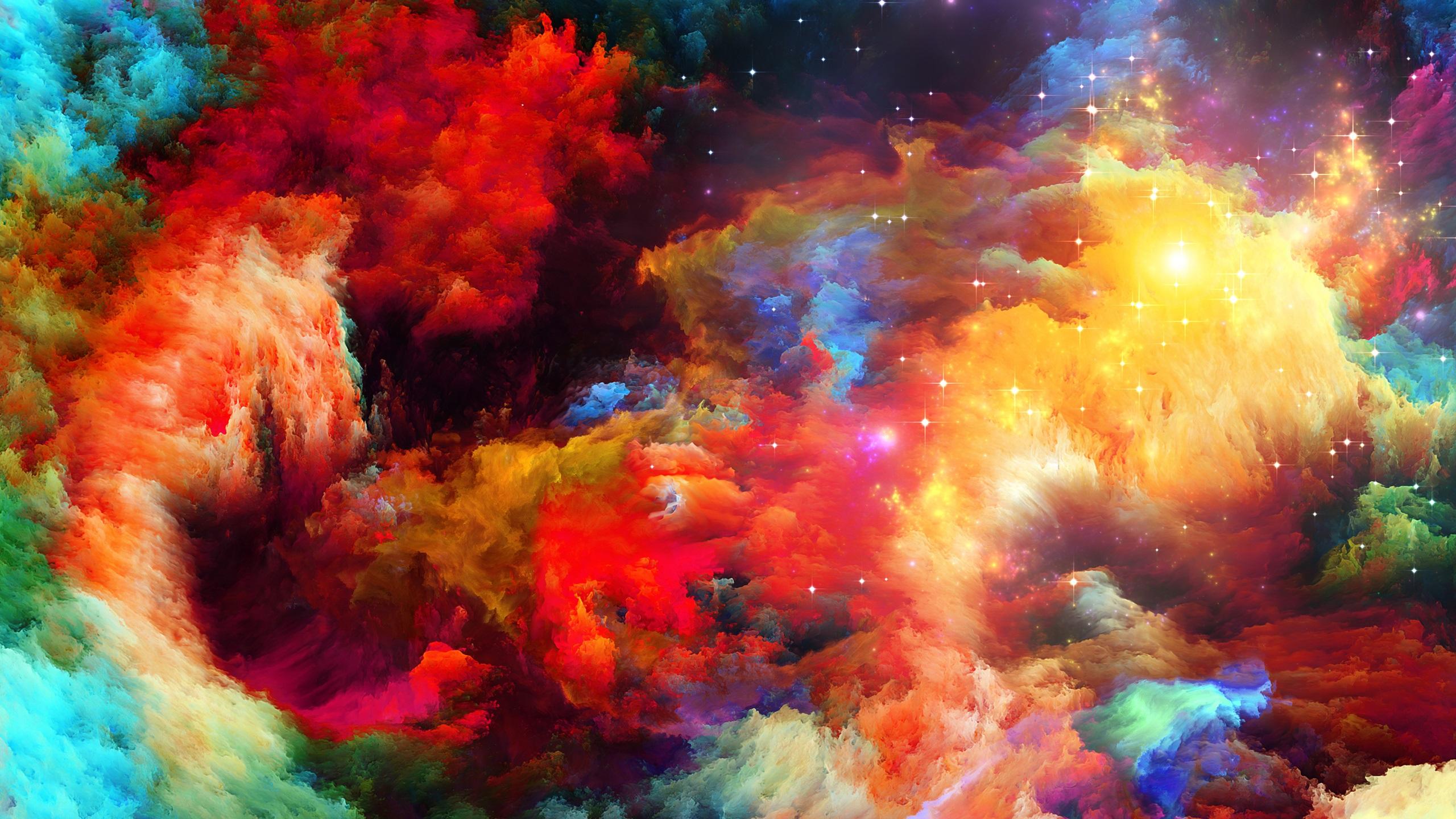 Abstract Colors Flashy Bird 4k: 壁紙 カラフルなスペース、抽象的なデザイン、星 2560x1920 HD 無料のデスクトップの背景, 画像