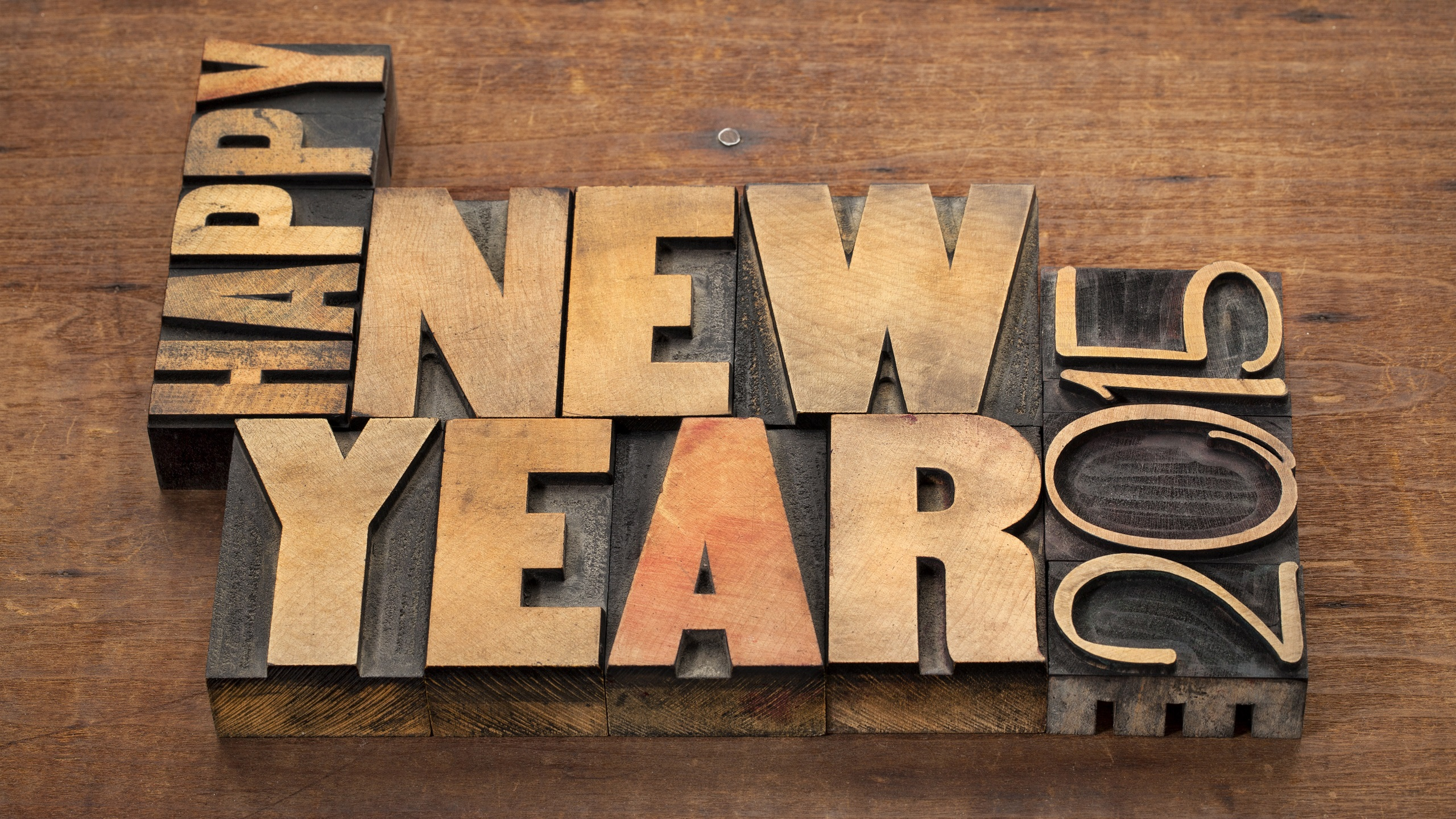 Wallpaper 3d Happy New Year 2015 2560x1600 Hd Picture Image