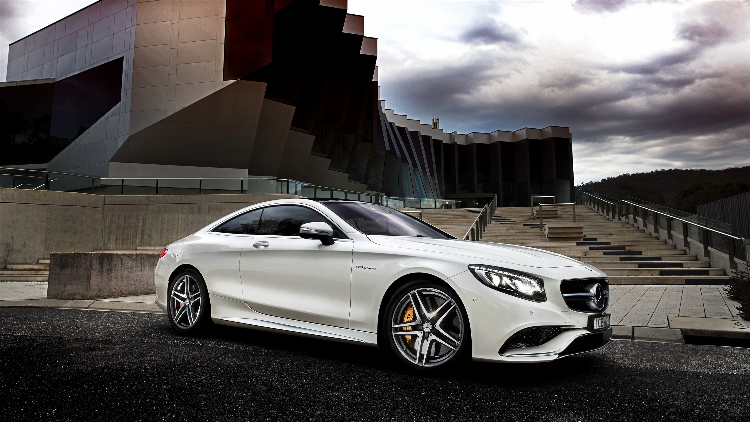 Wallpaper 2015 mercedes benz s63 amg white car side view 2560x1440 qhd picture image - Car side view wallpaper ...