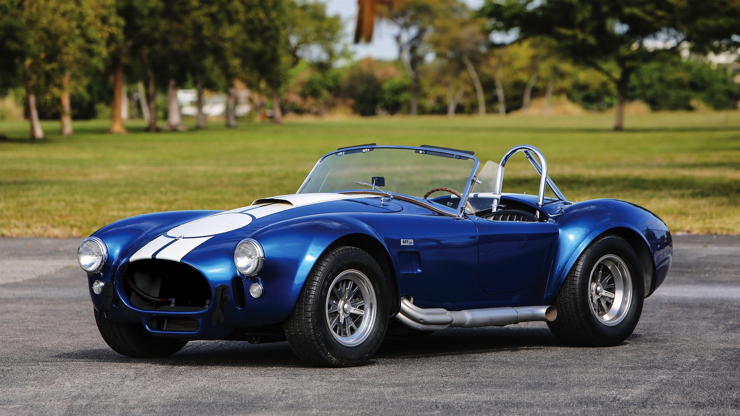 Wallpaper 1967 Shelby Cobra 427 Sc Ford Blue Car 2560x1440 Qhd Picture Image