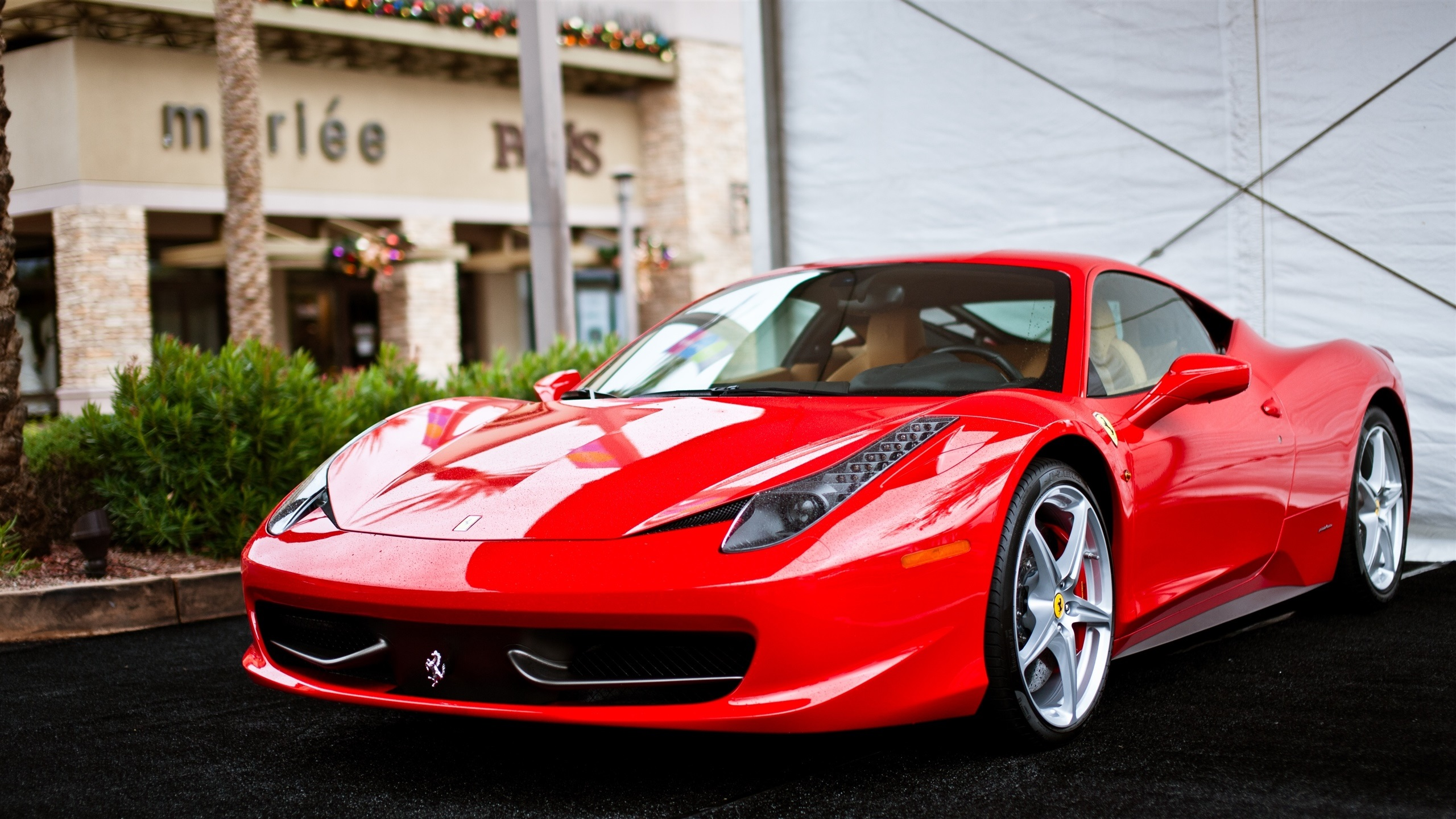 Wallpaper Ferrari 458 Italia Red Supercar Front View 2560x1440 Qhd Picture Image