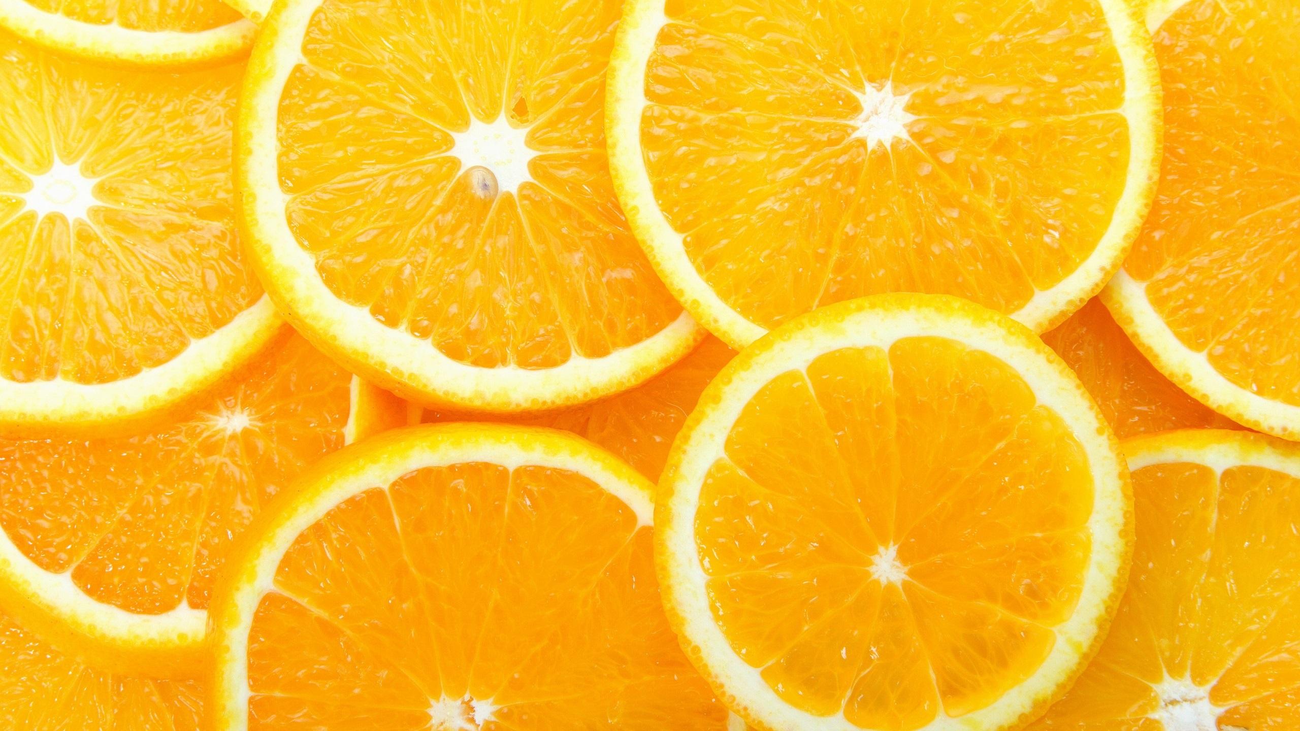 Une tranche de citron les oranges les fruits jaune for Fond ecran qhd