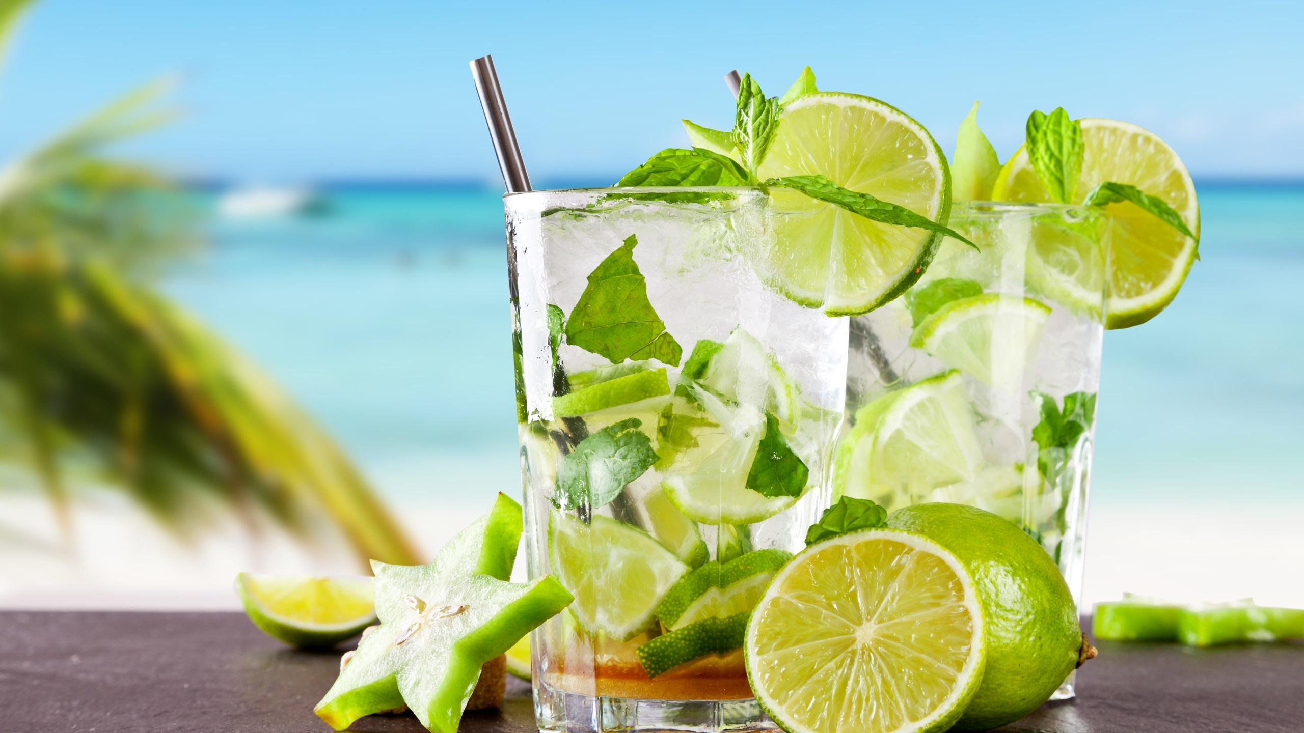 壁紙 トロピカルカクテルモヒート レモン 涼しい 夏の飲み物