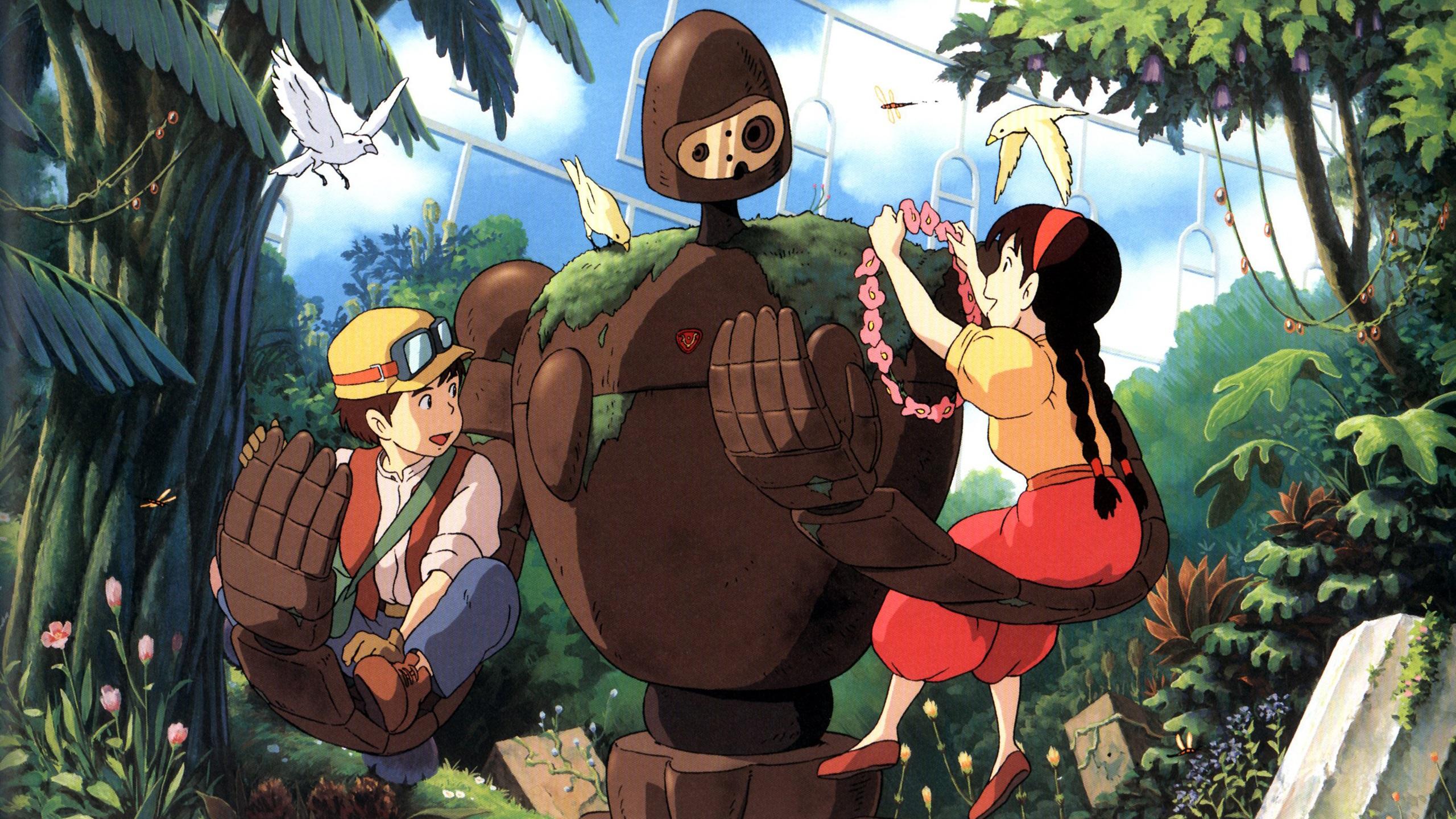 壁紙 宮崎駿 スタジオジブリ ロボット 女の子と男の子 2560x1600 Hd