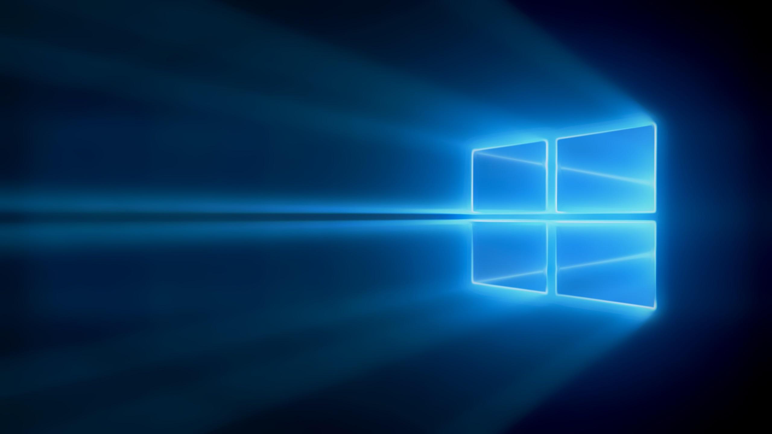 Fonds Décran Windows 10 La Lumière Bleu 2560x1440 Qhd Image