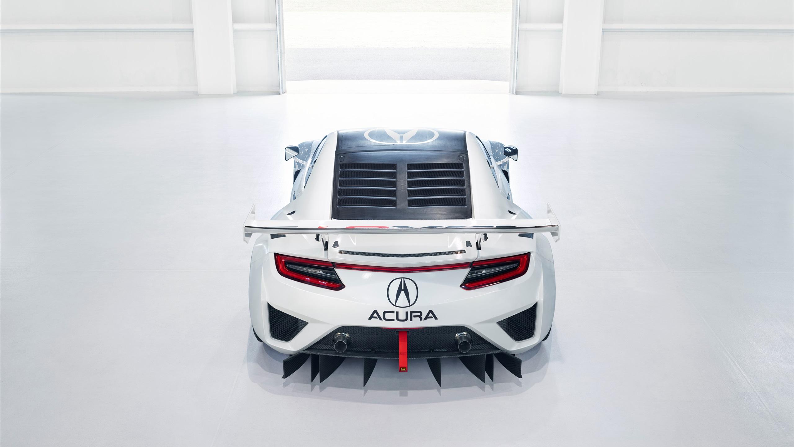 Wallpaper Acura Nsx Gt3 Supercar Back View 3840x2160 Uhd 4k