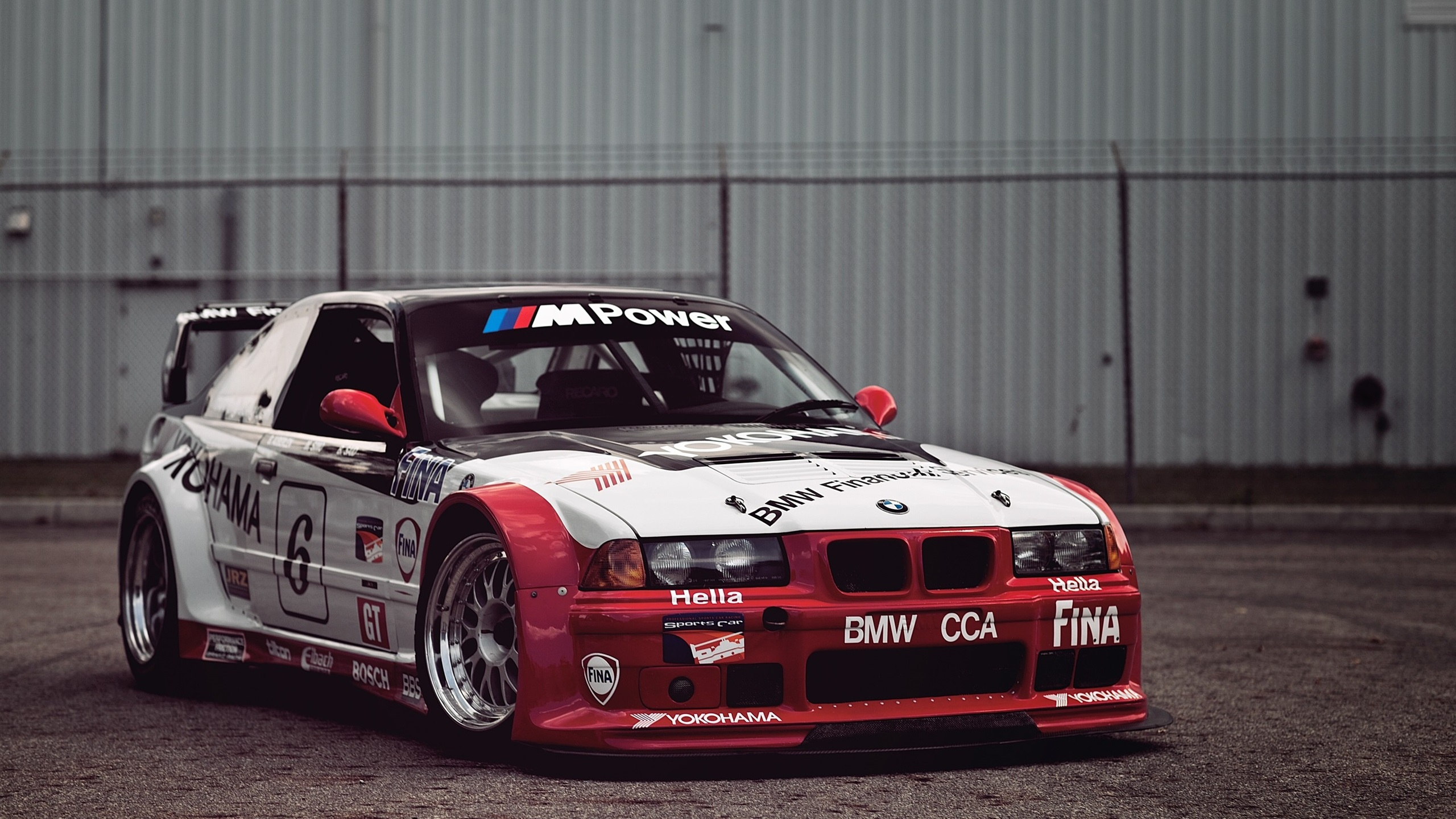 Wallpaper Bmw Race Car White And Red 2560x1600 Hd Picture Image