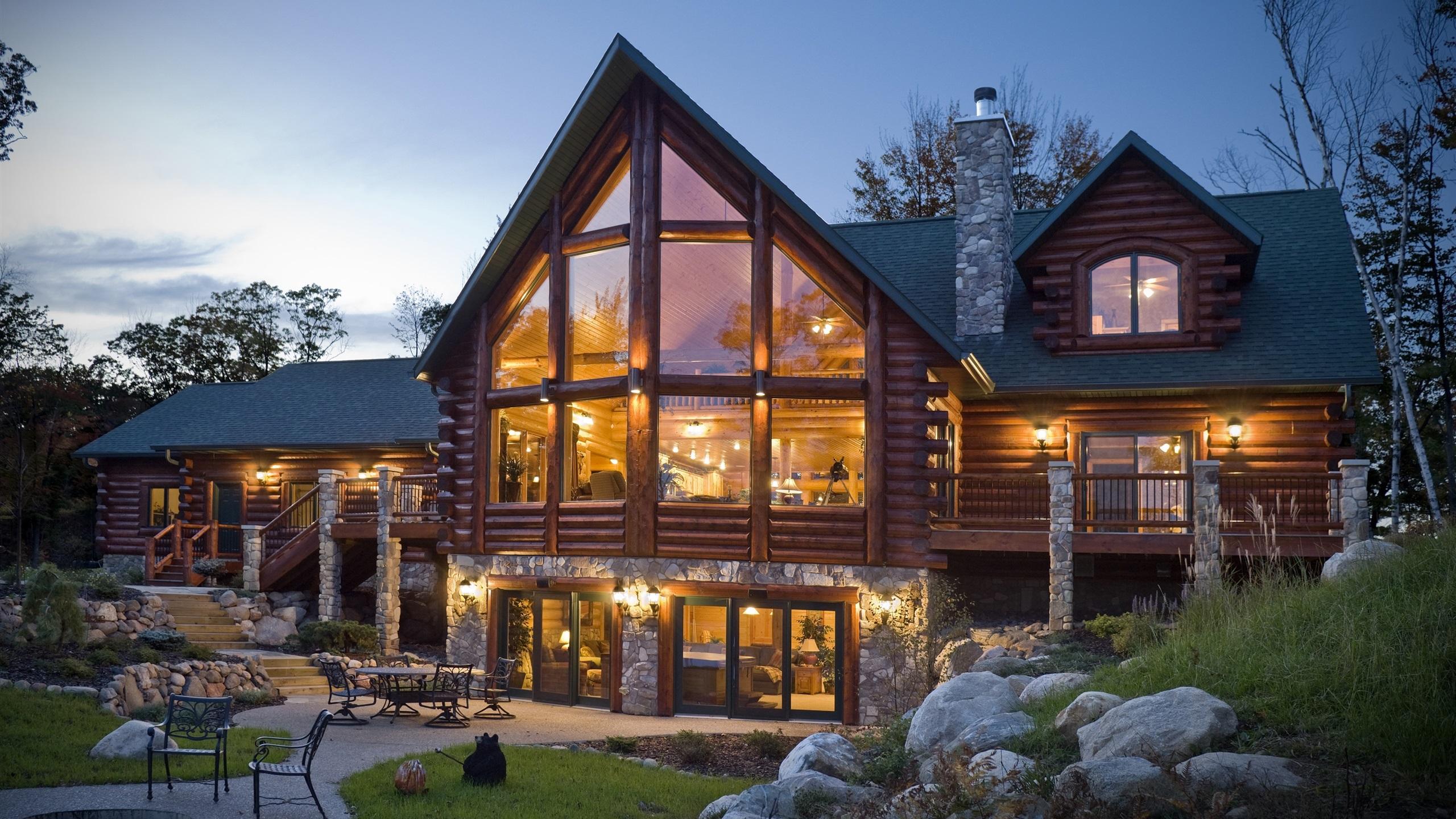 деревянный дом в саду фото всей