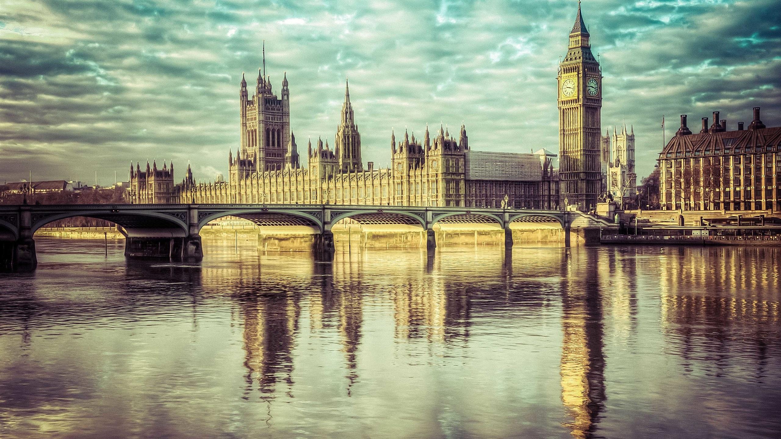 England London Big Ben River Thames Westminster Bridge