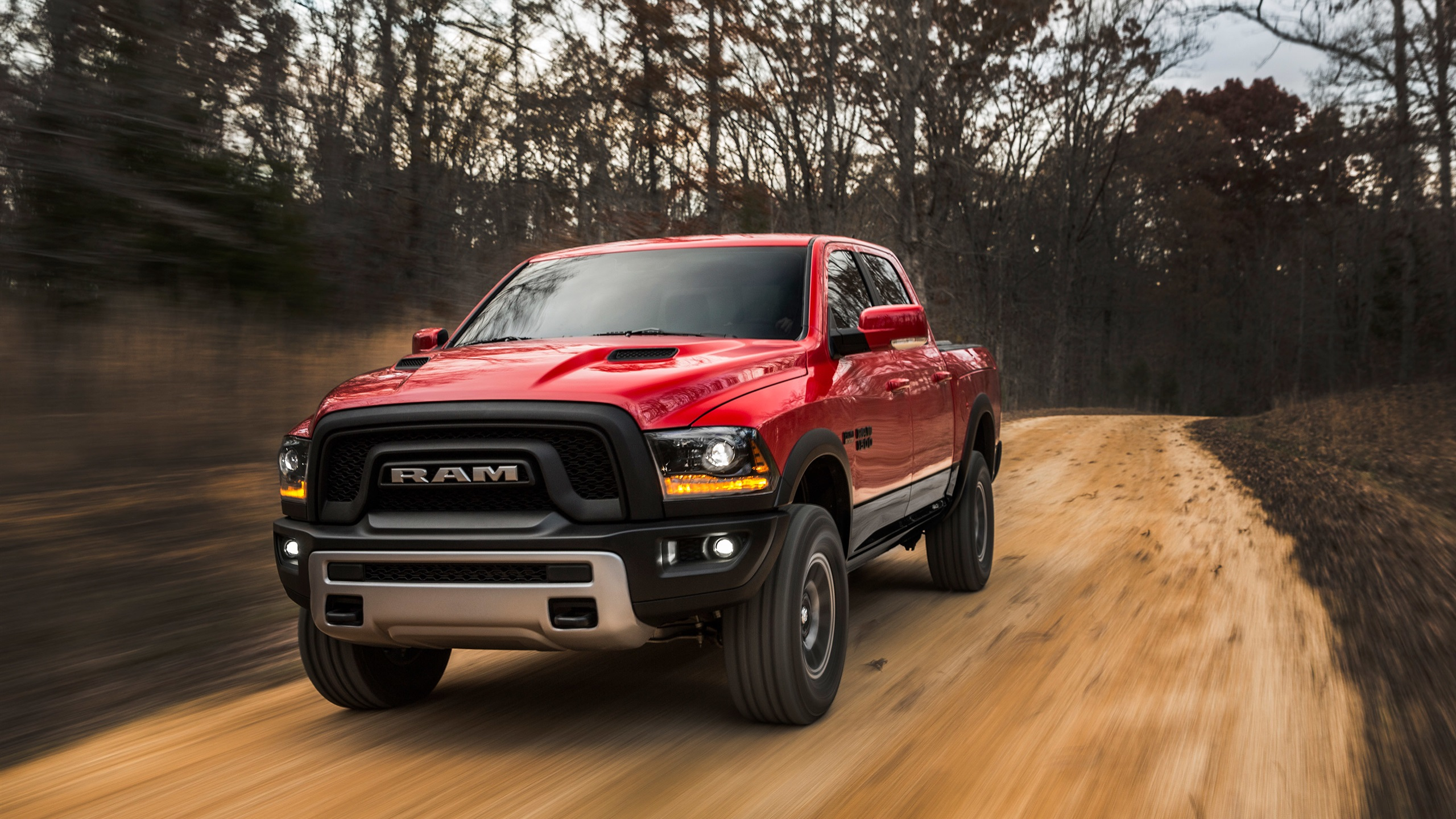 Wallpaper Dodge Ram 1500 Red Pickup Speed 2880x1800 Hd Picture Image