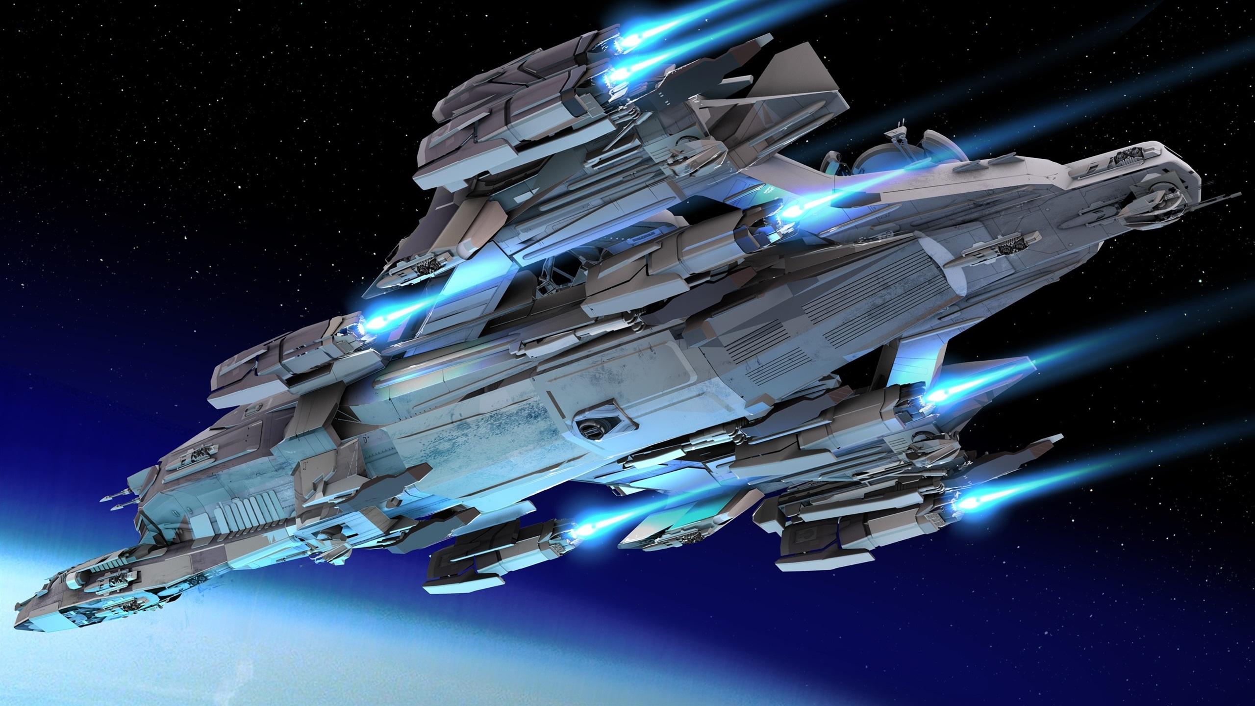 壁紙 宇宙船 ボトムビュー 飛行 宇宙 星 2560x1440 Qhd 無料のデスクトップの背景 画像