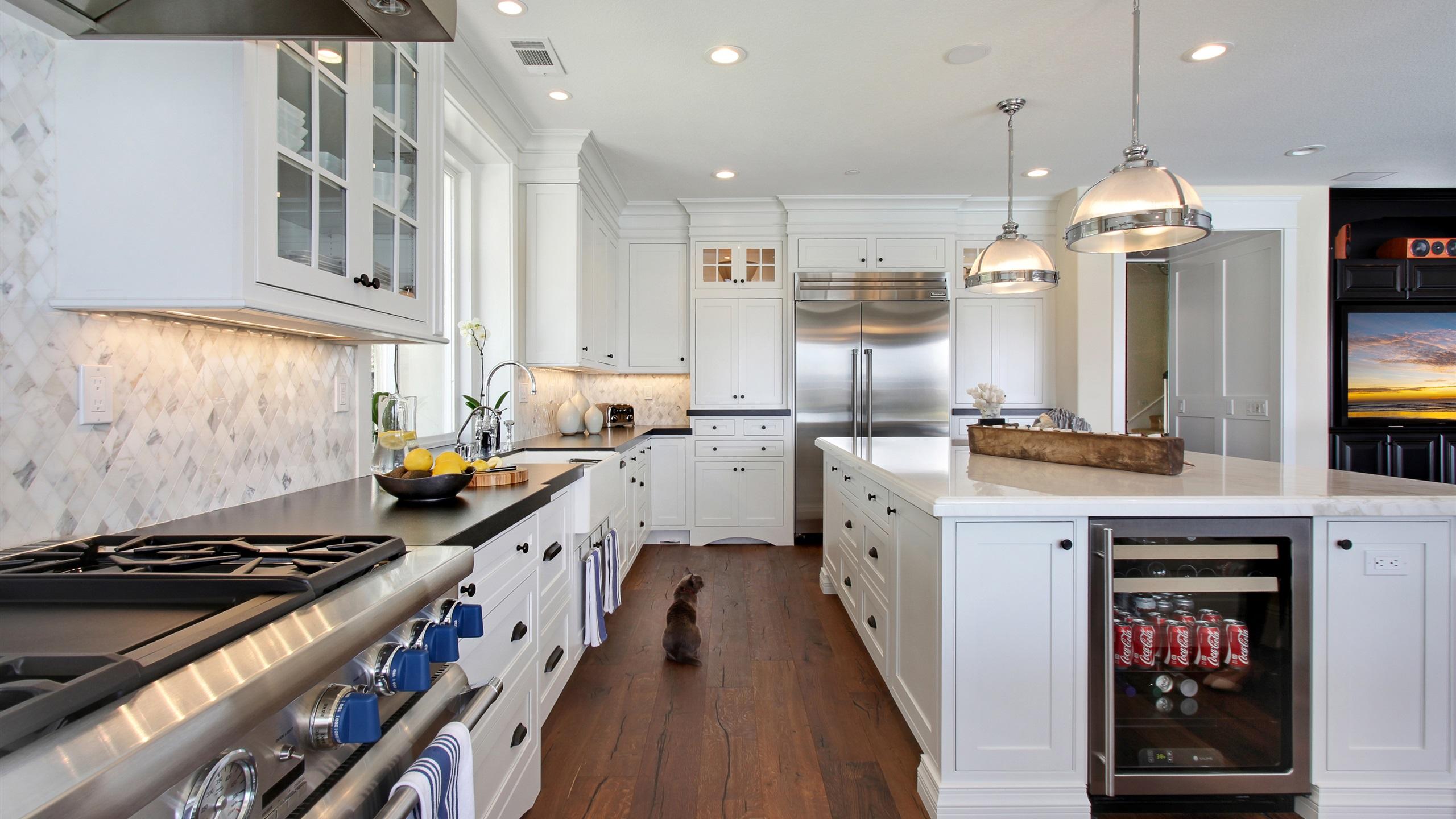 Interior Design, Küche, weißer Stil 3840x2160 UHD 4K ...
