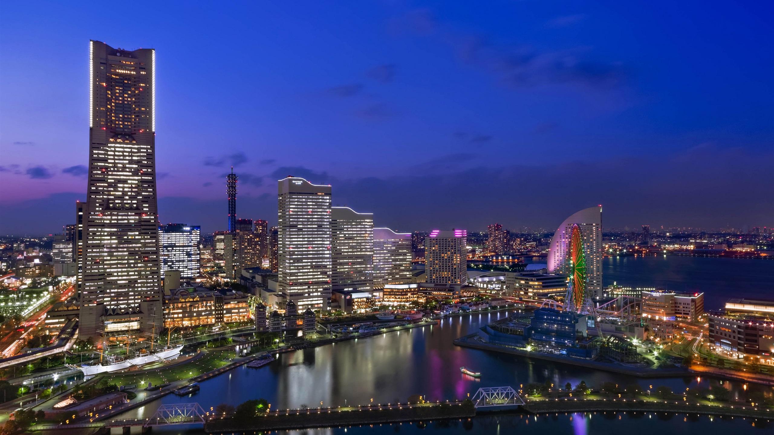 壁纸日本 城市夜景 摩天大楼 灯2880x1800 Hd 高清壁纸 图片 照片