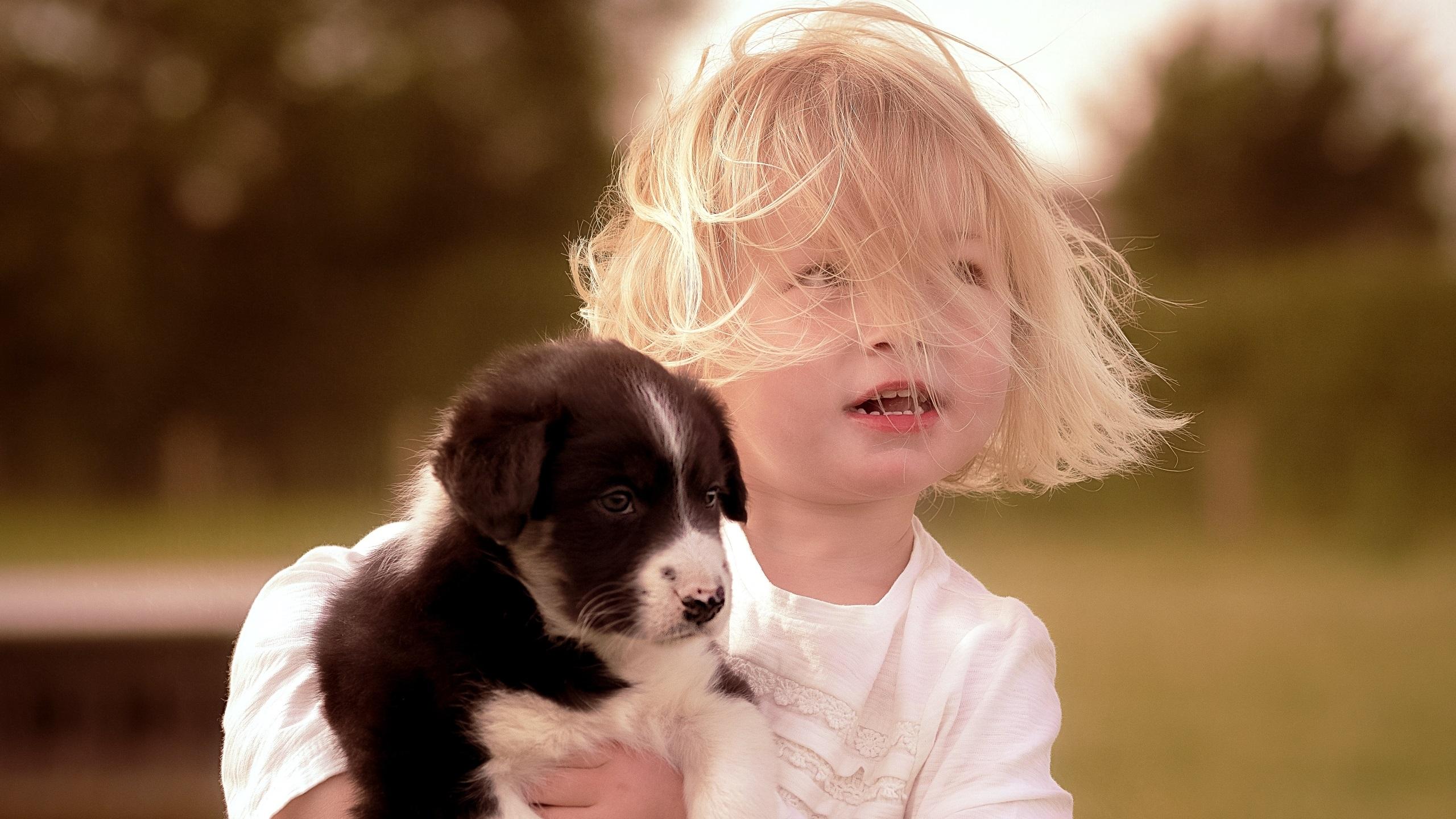 девушка со щенком загрузить