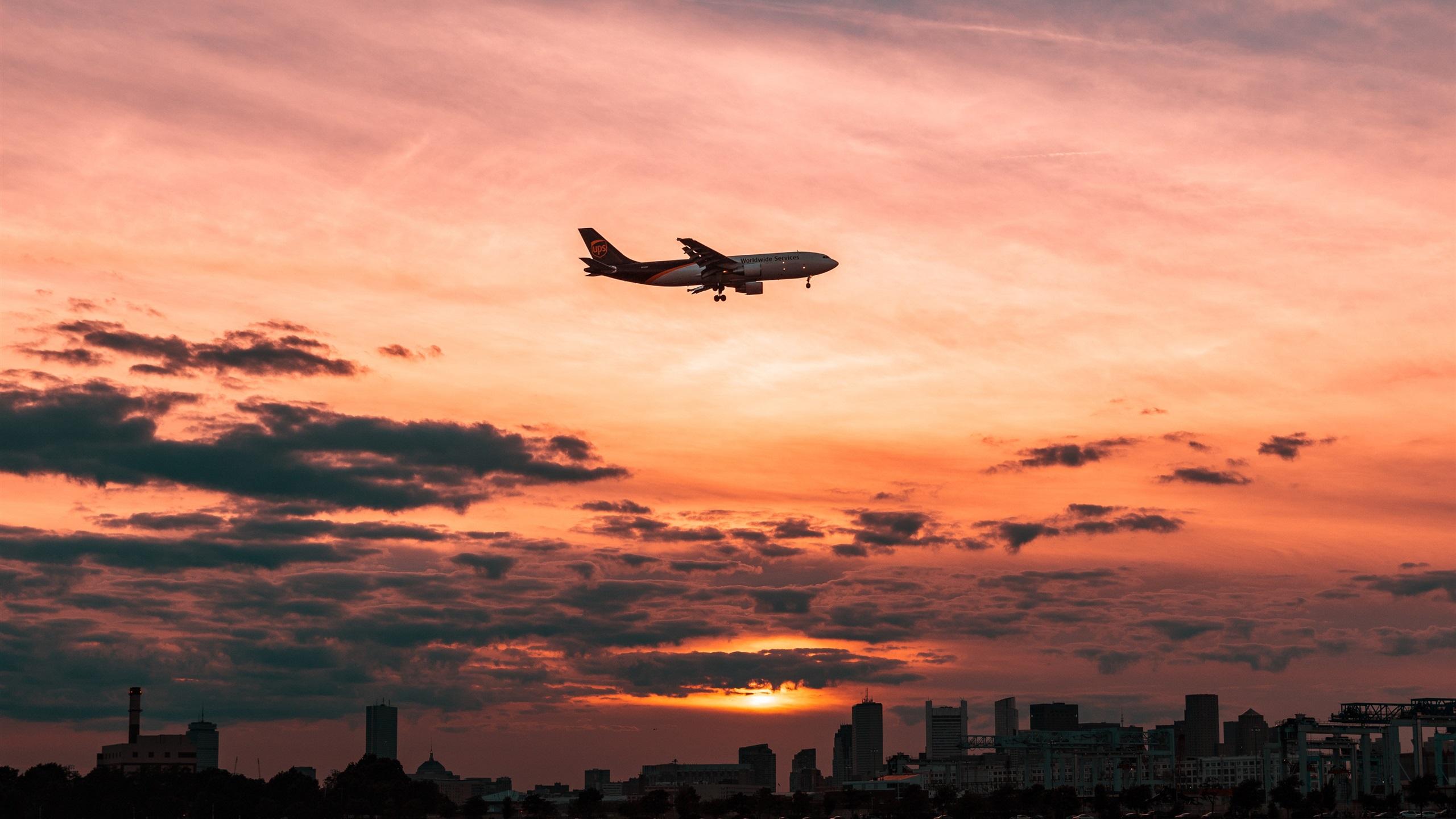самолет полет закат без смс
